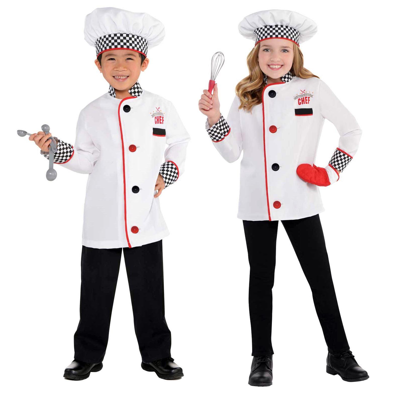 87a5456b8 Kids Boys Girls Master Chef Cook Uniform Fancy Dress Up Book Week ...