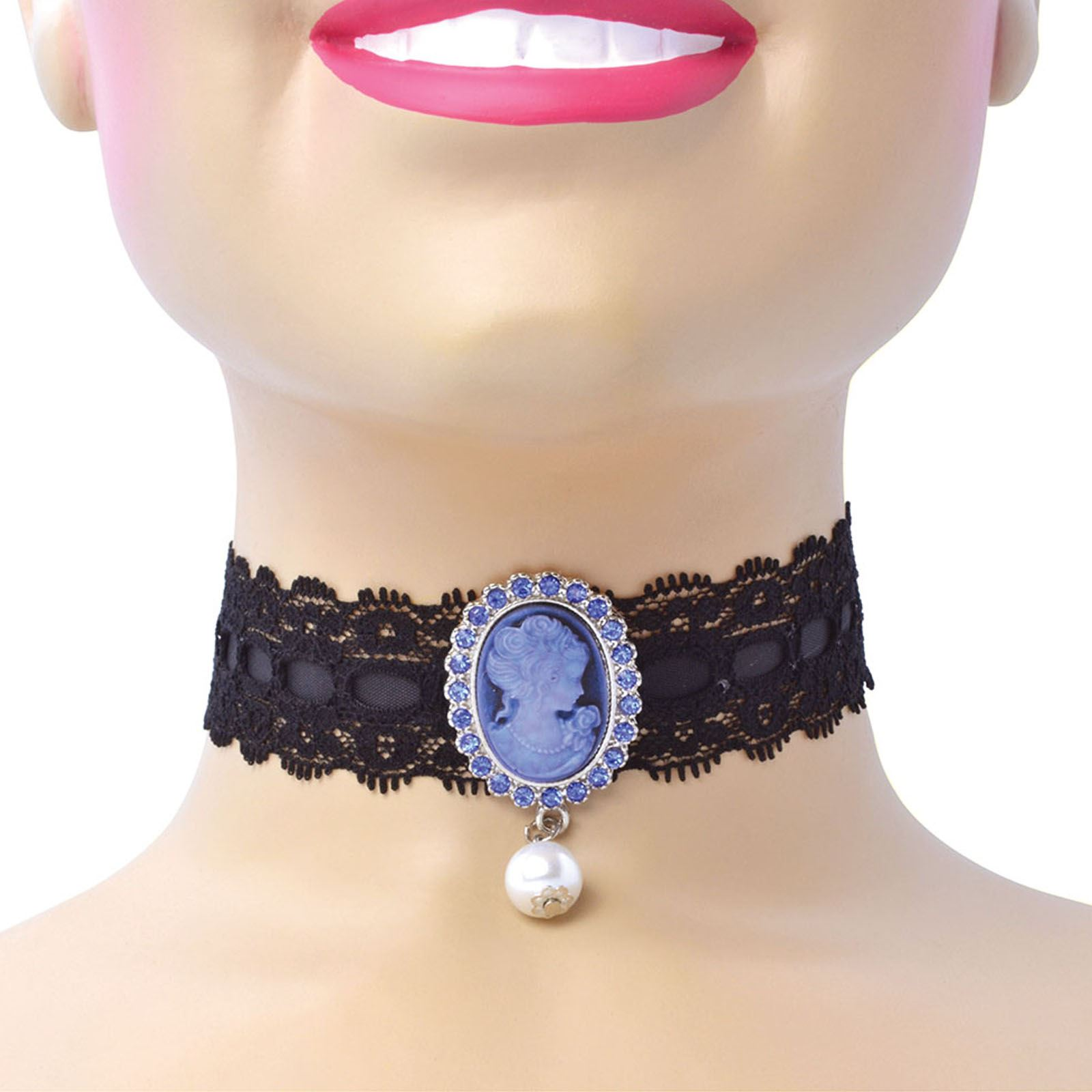 Pearl Necklace Vintage Look Flapper costume 20/'s 30/'s Victorian Lace Choker