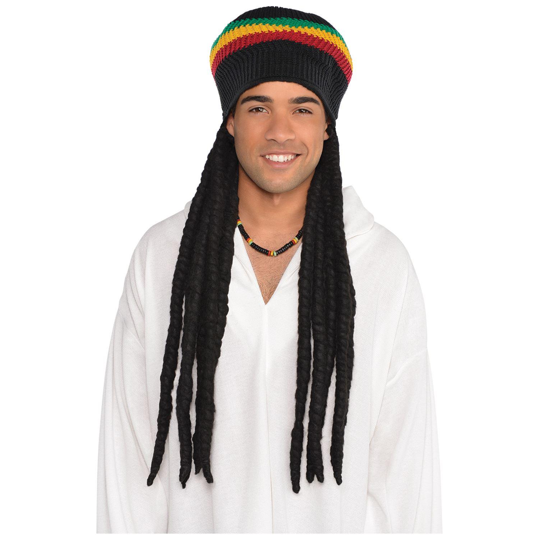 HOmbre Buffalo SOLDADO Sombrero rasta rastas Jamaicano Peluca ... 4de0072d686
