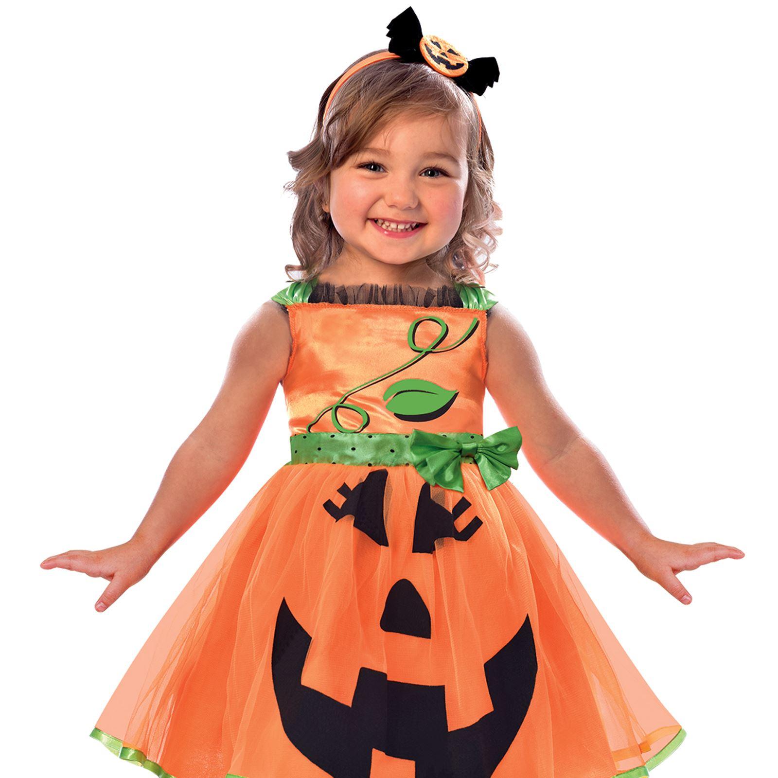 1dce81086 Kids Girls Toddlers Babies Cute Pumpkin Jack O Lantern Halloween ...