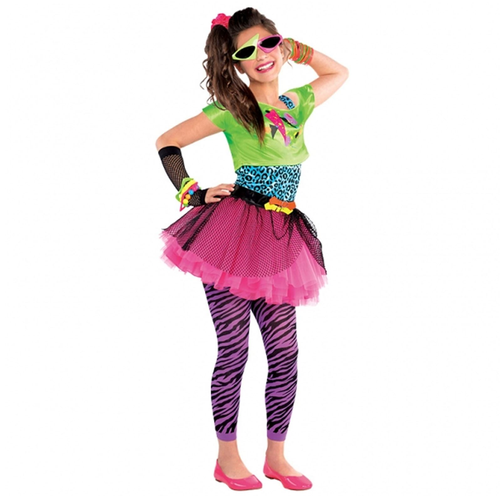Neon Teen Party Retro 80s Colourful Girls Teens Fancy Dress ...