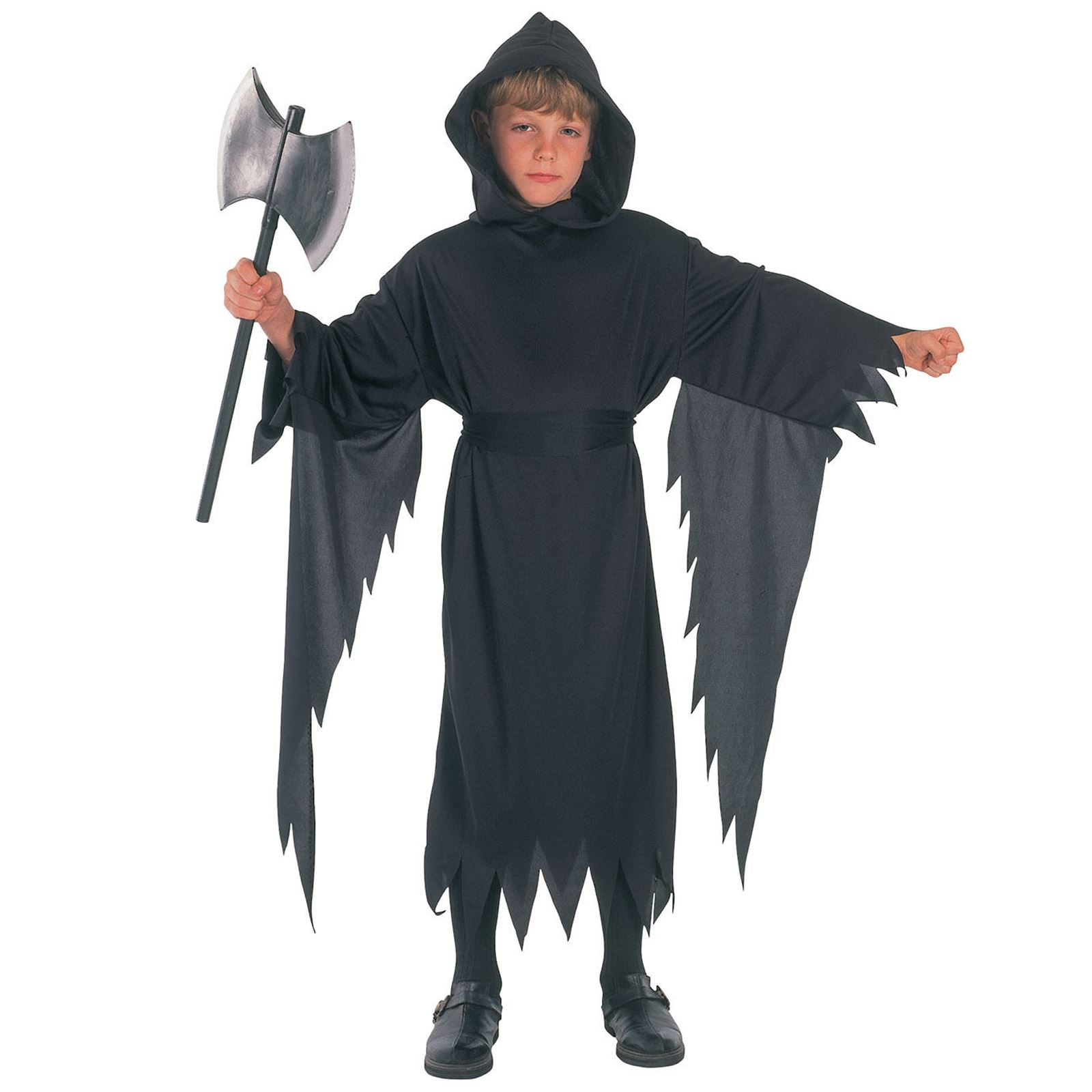 kids boys grim reaper dark demon ghost harry fancy dress halloween