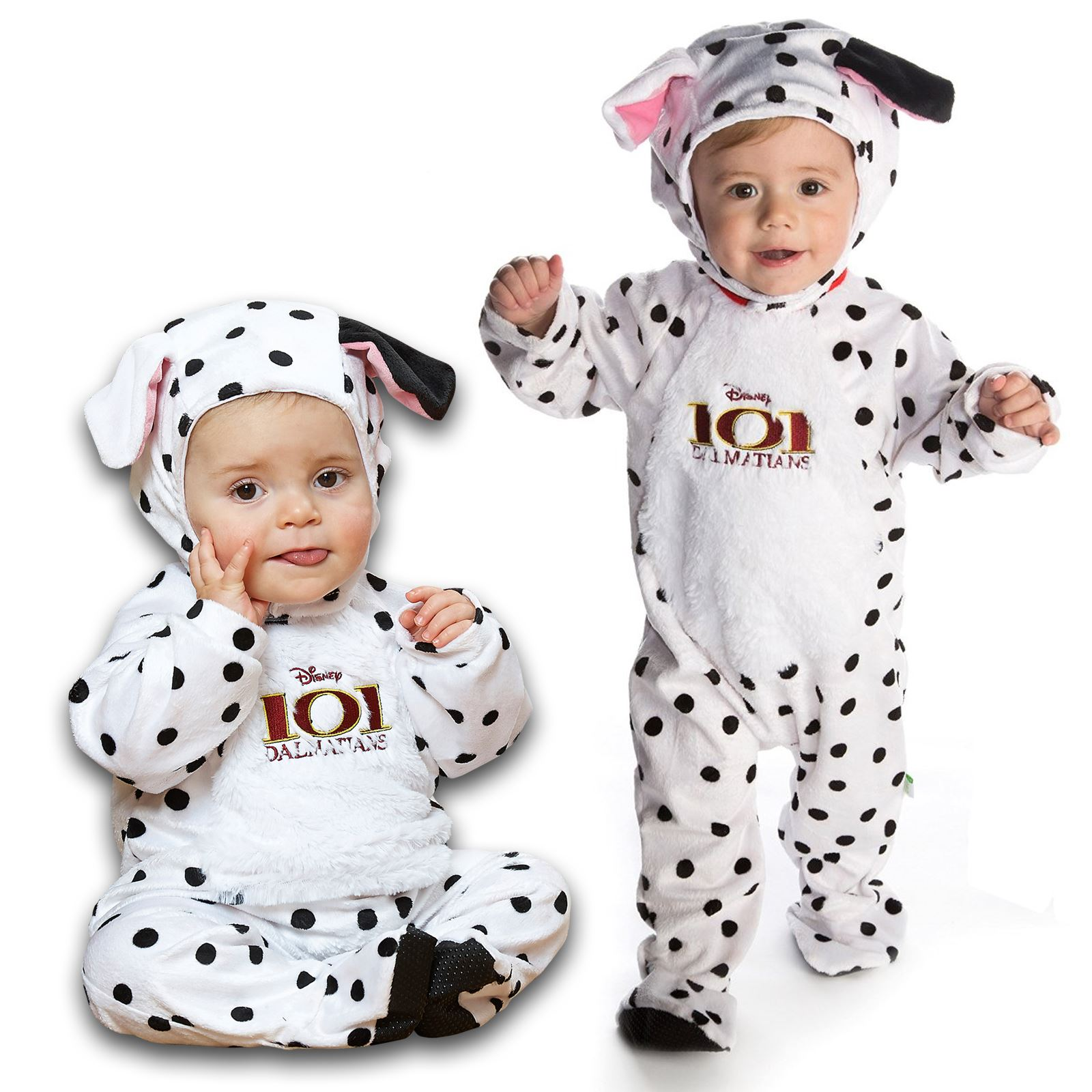 Baby Dalmatian Costume  sc 1 st  eBay & Disney 101 Dalmatian Soft Plush Jumpsuit Hat Ear Disney Baby Fancy ...