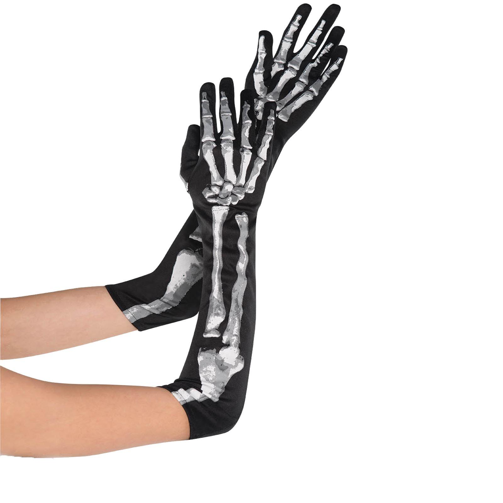 Skeleton Glove And Wrist Bone Gloves