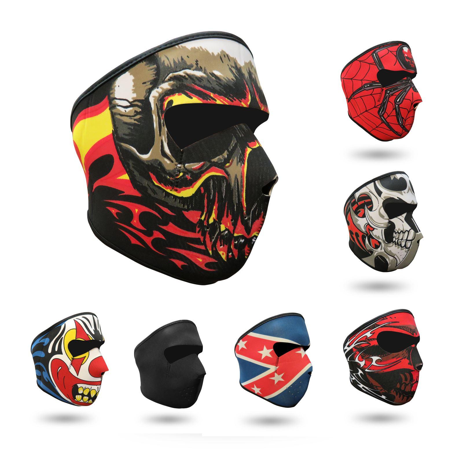 Néoprène Intégral Reversible Masque Moto Ski Snowboard Moto Ski Quad