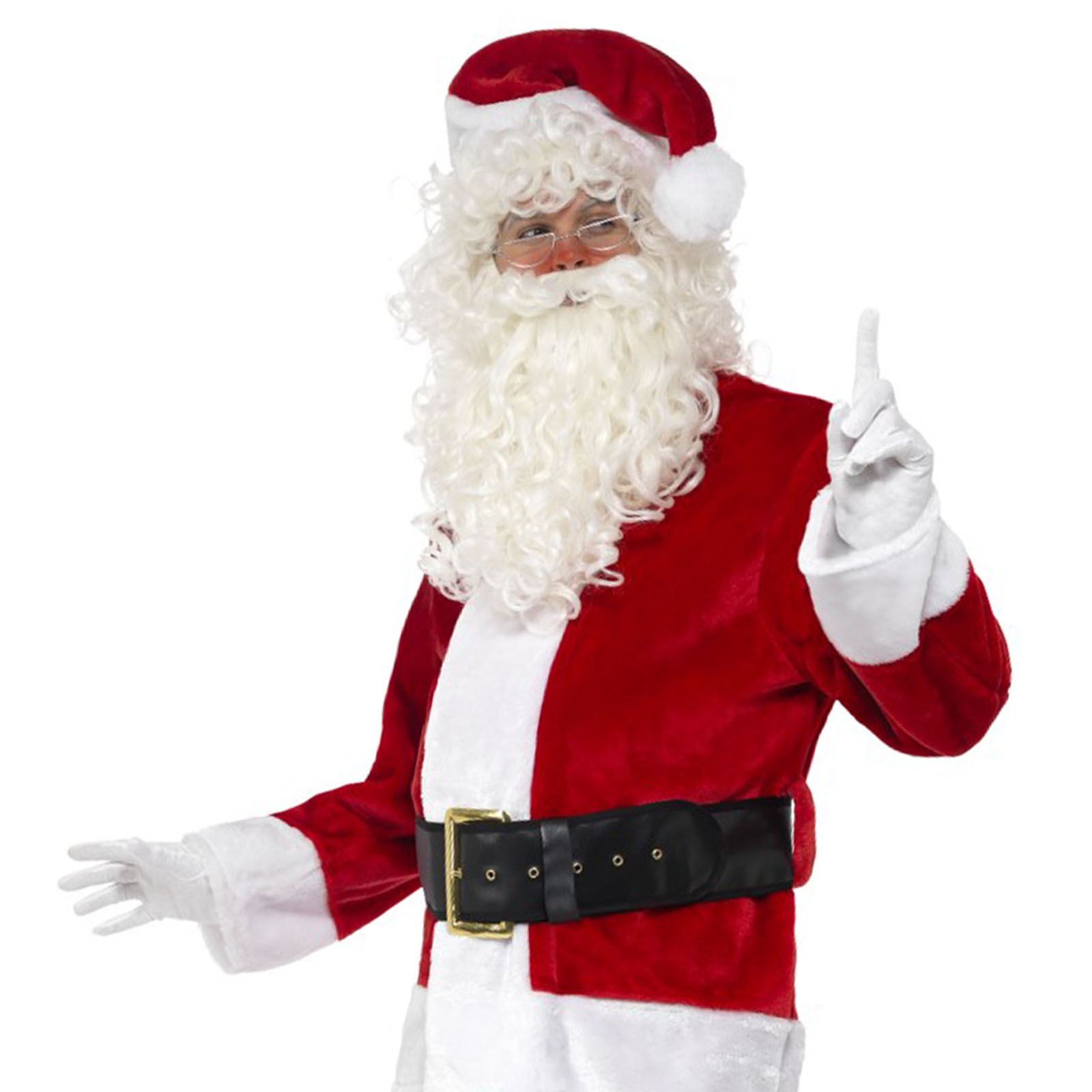 Mens Santa Claus Belly Stuffer Father Christmas Xmas Festive Grotto Fancy Dress