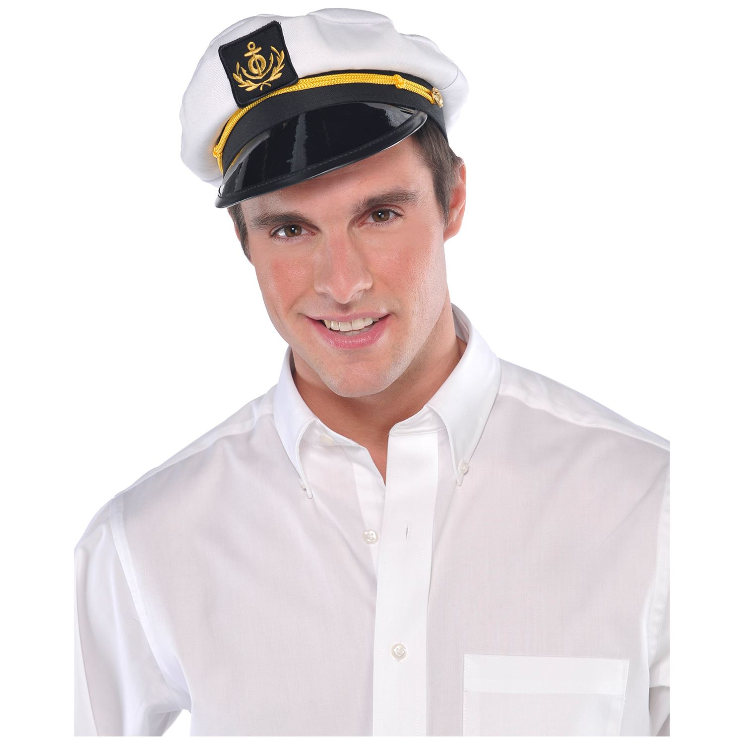 Details about Adults Mens Ladies Sailor Skipper Ship Captain Hat Navy Fancy  Dress Accessory 4777f79082f1