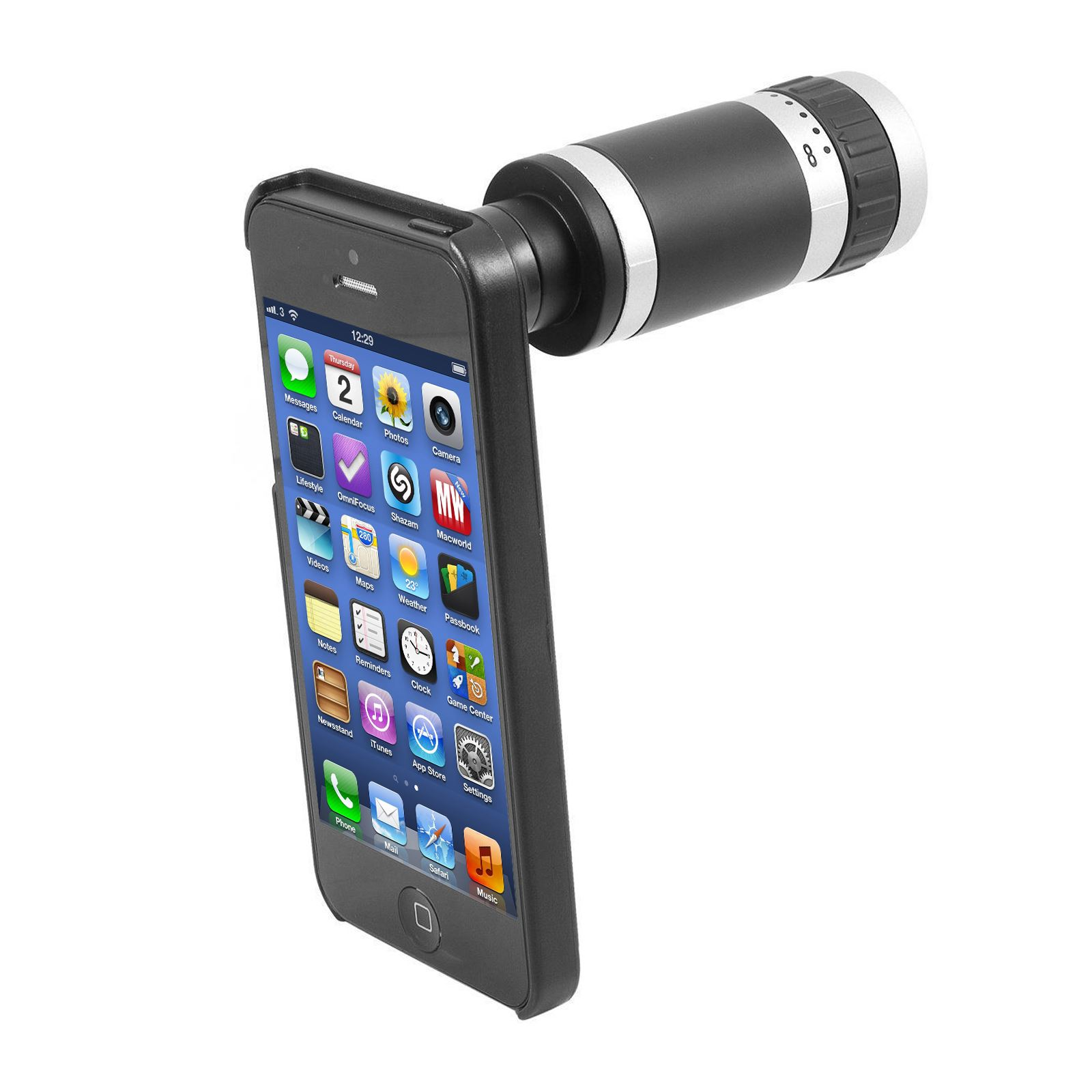 8x optisch zoom teleskop monokular kamera linse mit h lle. Black Bedroom Furniture Sets. Home Design Ideas