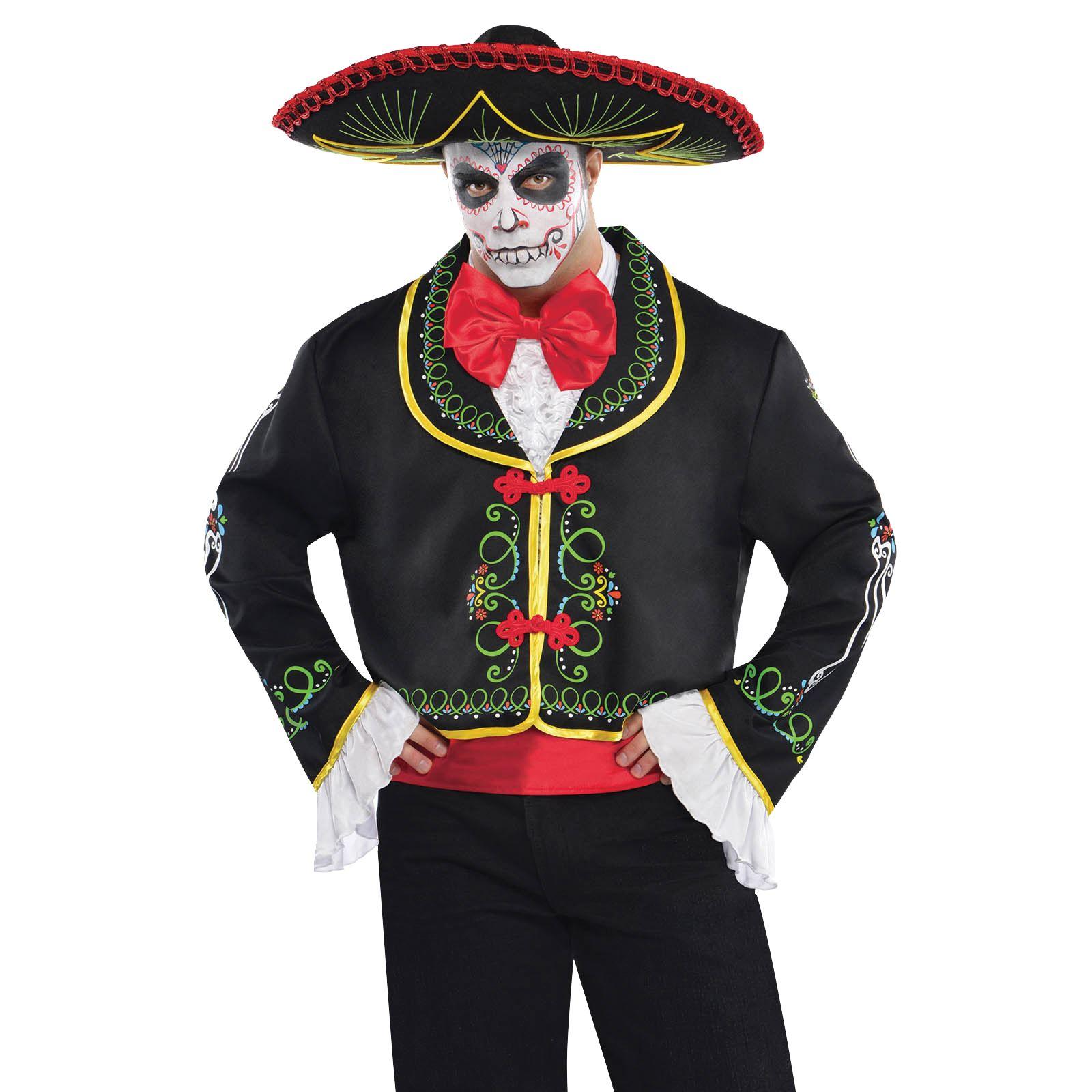 f6a92c3c4be68 Hombre DÍA DE LOS MUERTOS señor esqueleto Disfraz Halloween Sombrero ...