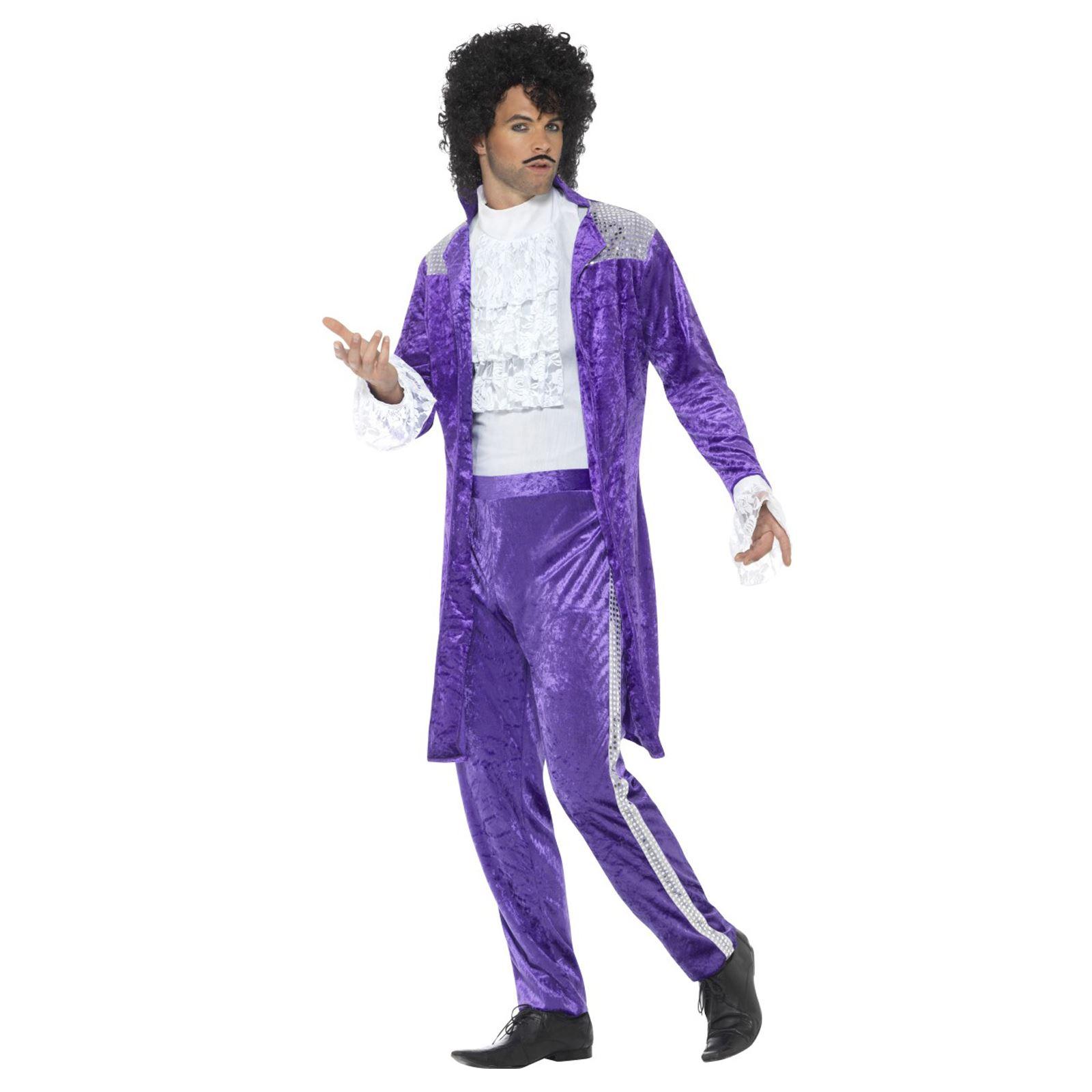 907363eea0 80s Mens Purple Musician Prince Queen Suit Jacket Trousers Fancy ...