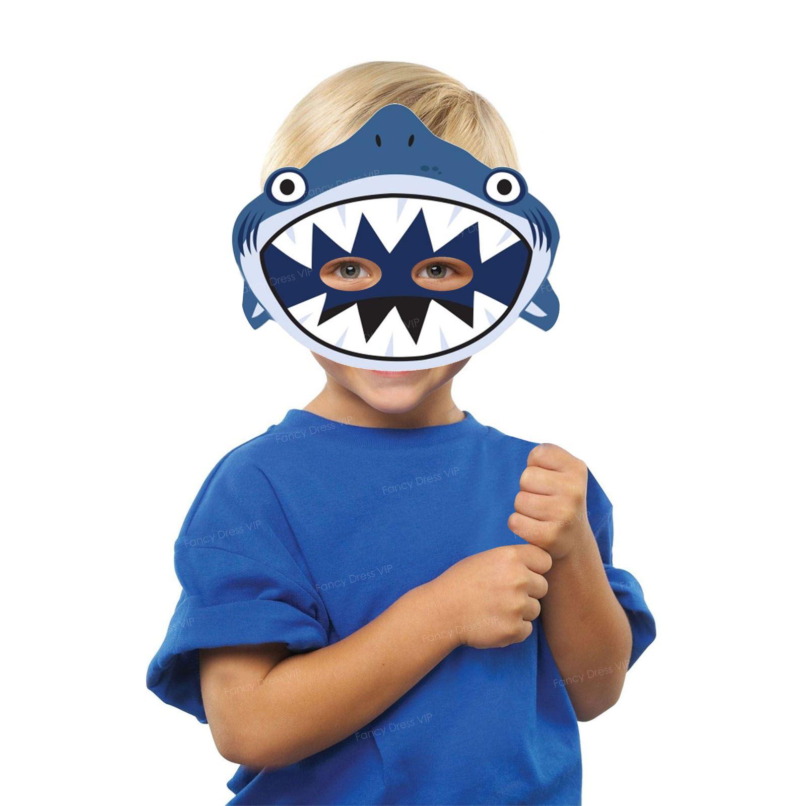 8 shark masks kids birthday ocean fancy dress under the sea party