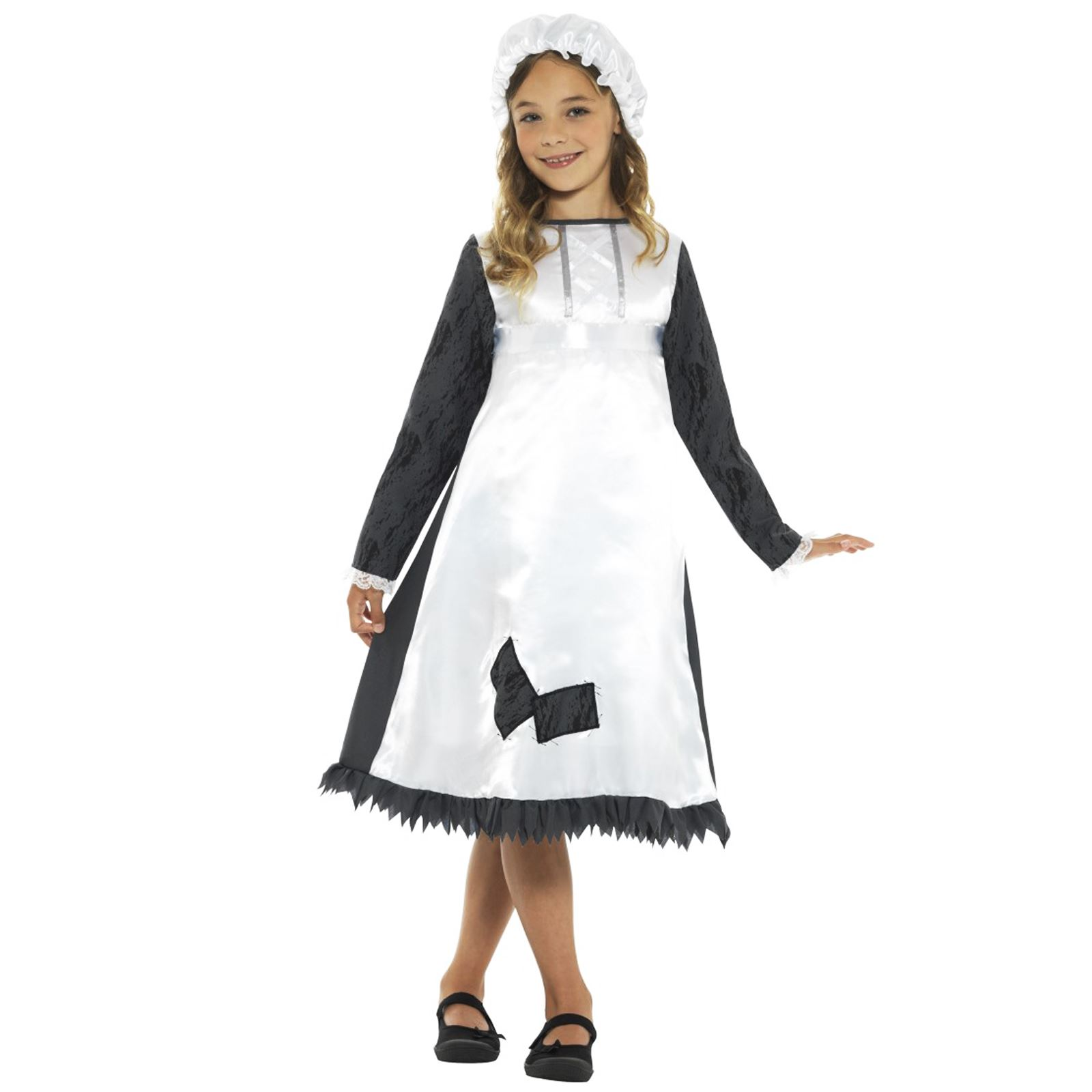 b394126e7e6ef Kids Girls Historical Poor Victorian Maid Pauper Fancy Dress Book ...