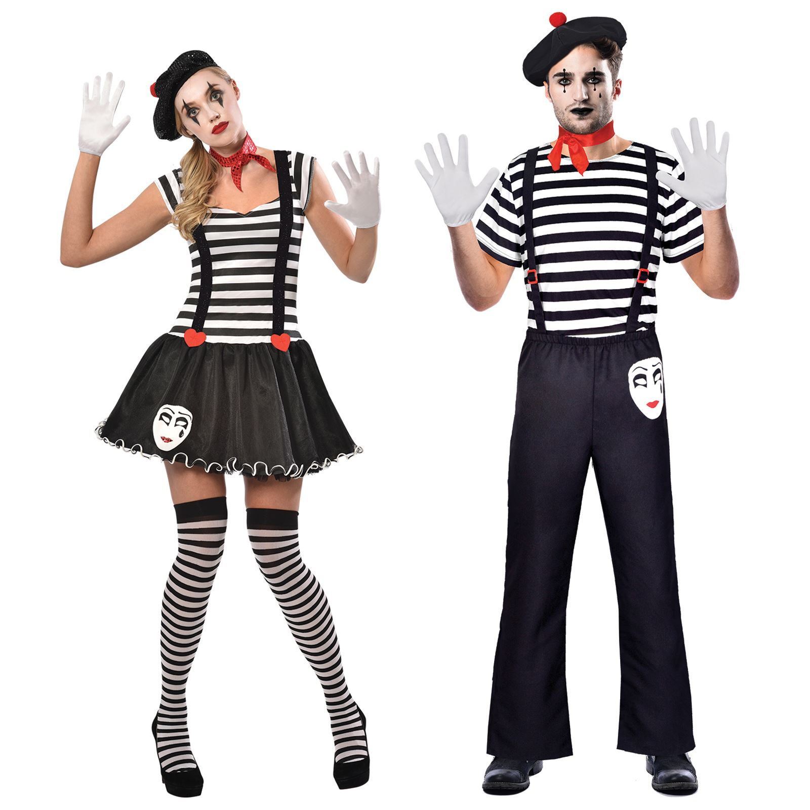 Mens Ladies French France Mime Stag Hen Fancy Dress Costume Accessories