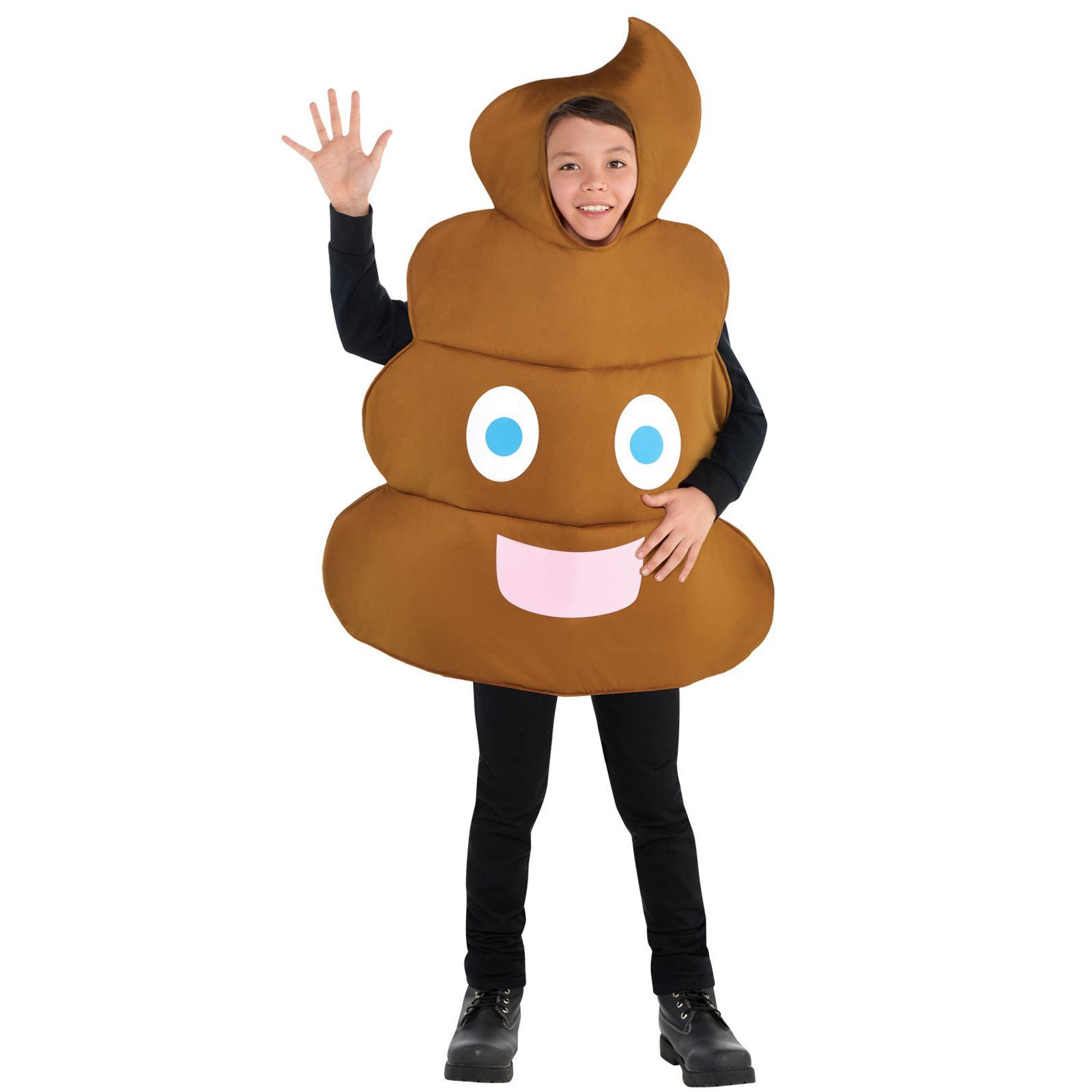 Kids Poop Emoticon Funny Smiley Emoji Fancy Dress Costume