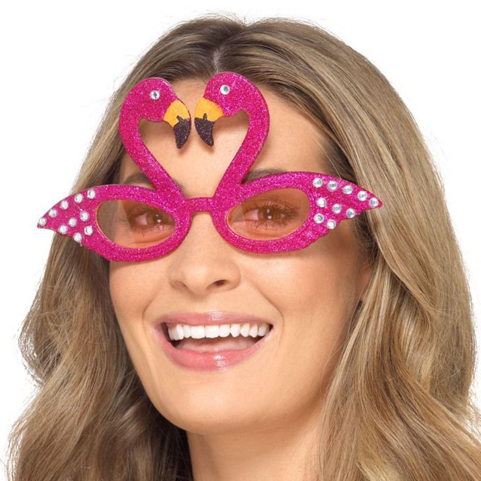 Blesiya Glitter Flamingo Glasses Sunglasses Hawaiian Beach Fun Party Costume