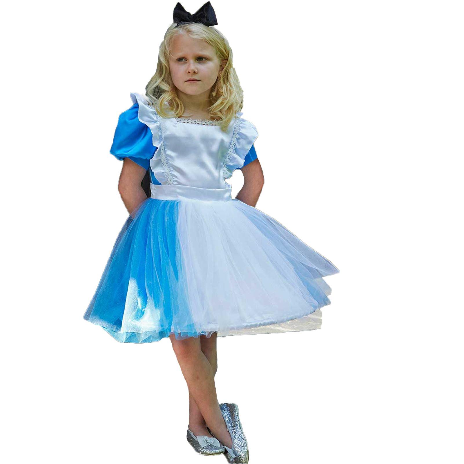 Classic Storybook Alice In Wonderland Fairytale Girls Childs Fancy Dress Costume
