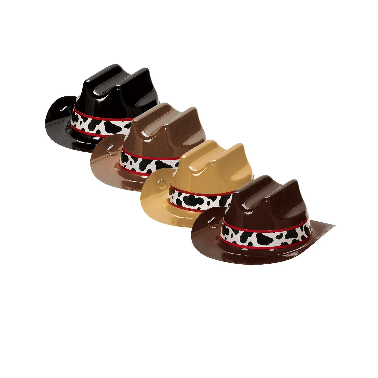 af10e879c9d68 Pack de 8 Mini Lejano Oeste Rodeo Del Vaquero plástico Sombreros ...