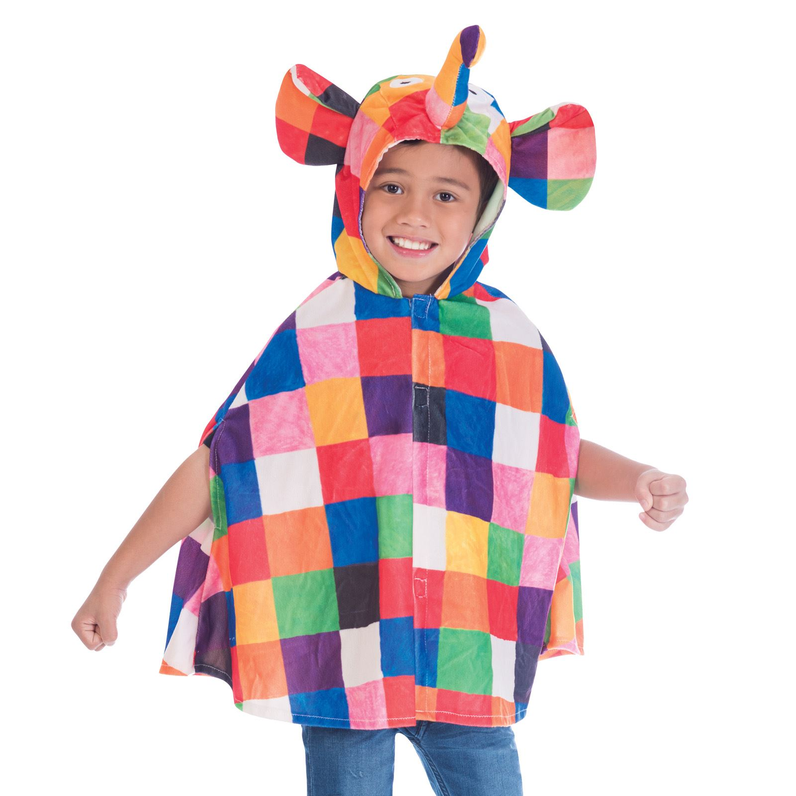 Elmer the Patchwork Elephant Cape  sc 1 st  eBay & Girls Boys 2-6 Years Elmer the Patchwork Elephant Book Week Fancy ...