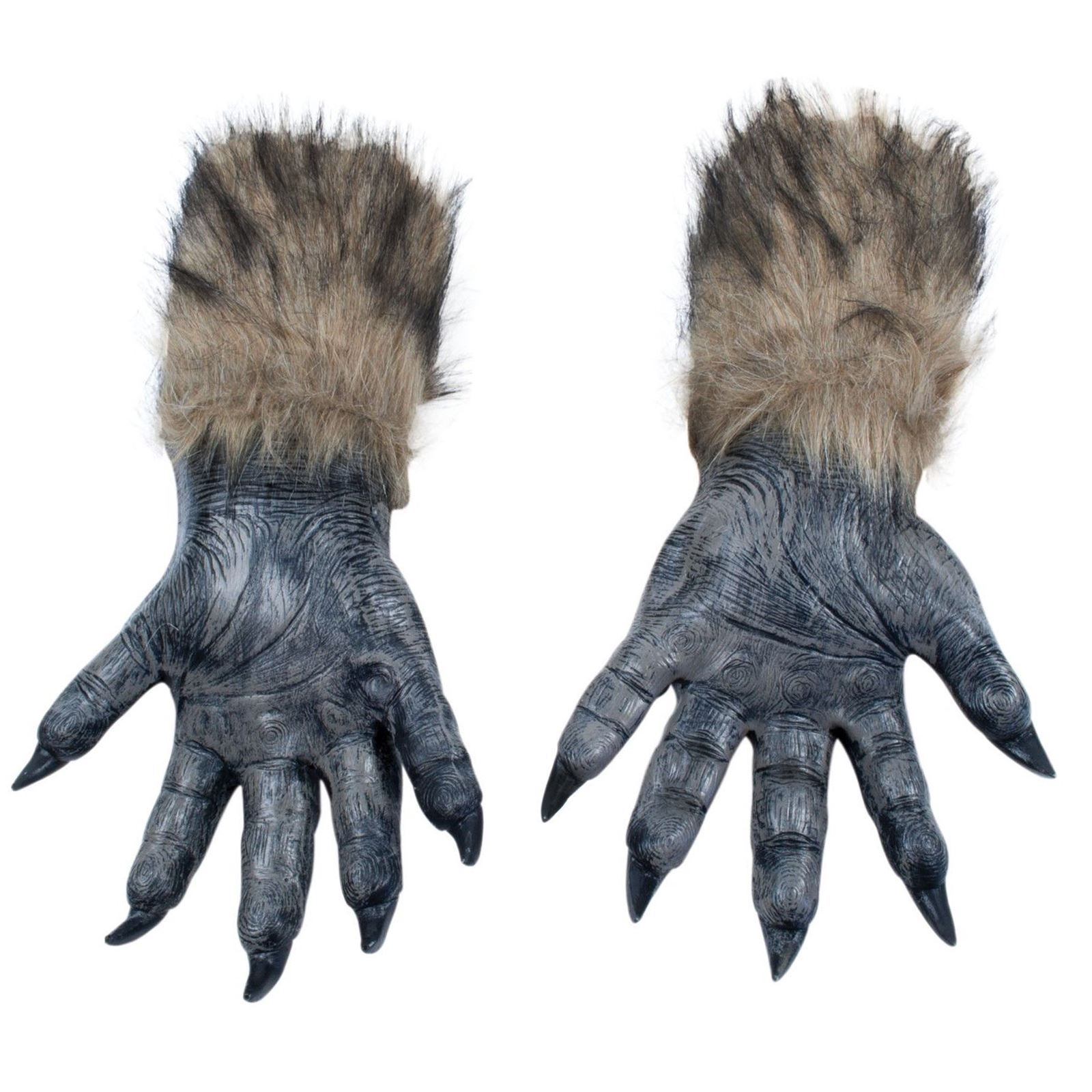 Adults Werewolf Wolf Grey Fairytale Halloween Mask Claws ...