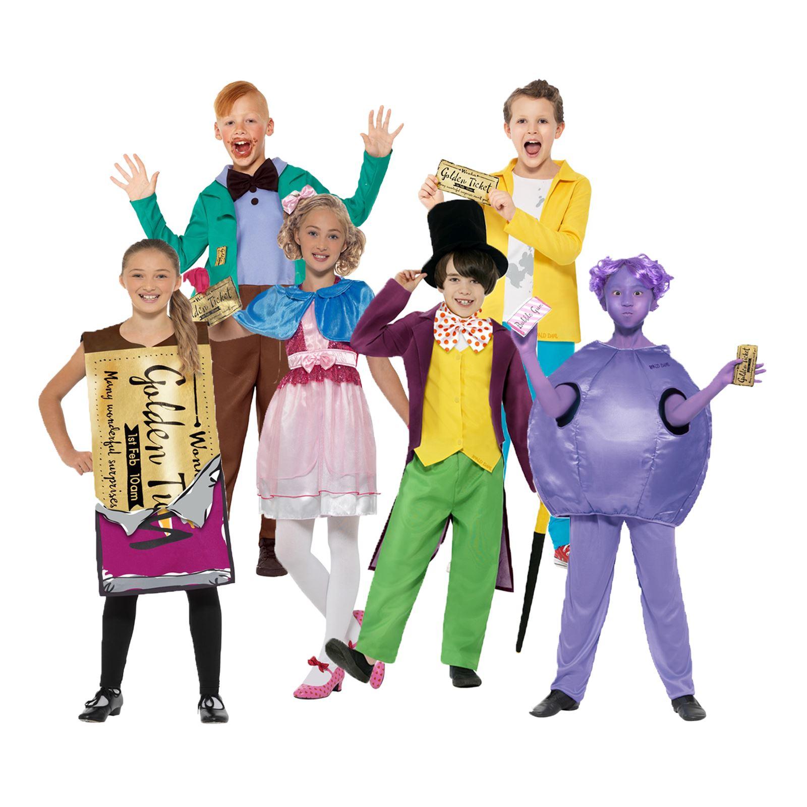 Bambino Ragazzi Ragazze Ufficiale ROALD DAHL LIBRO Giorno Character Costume Costumi