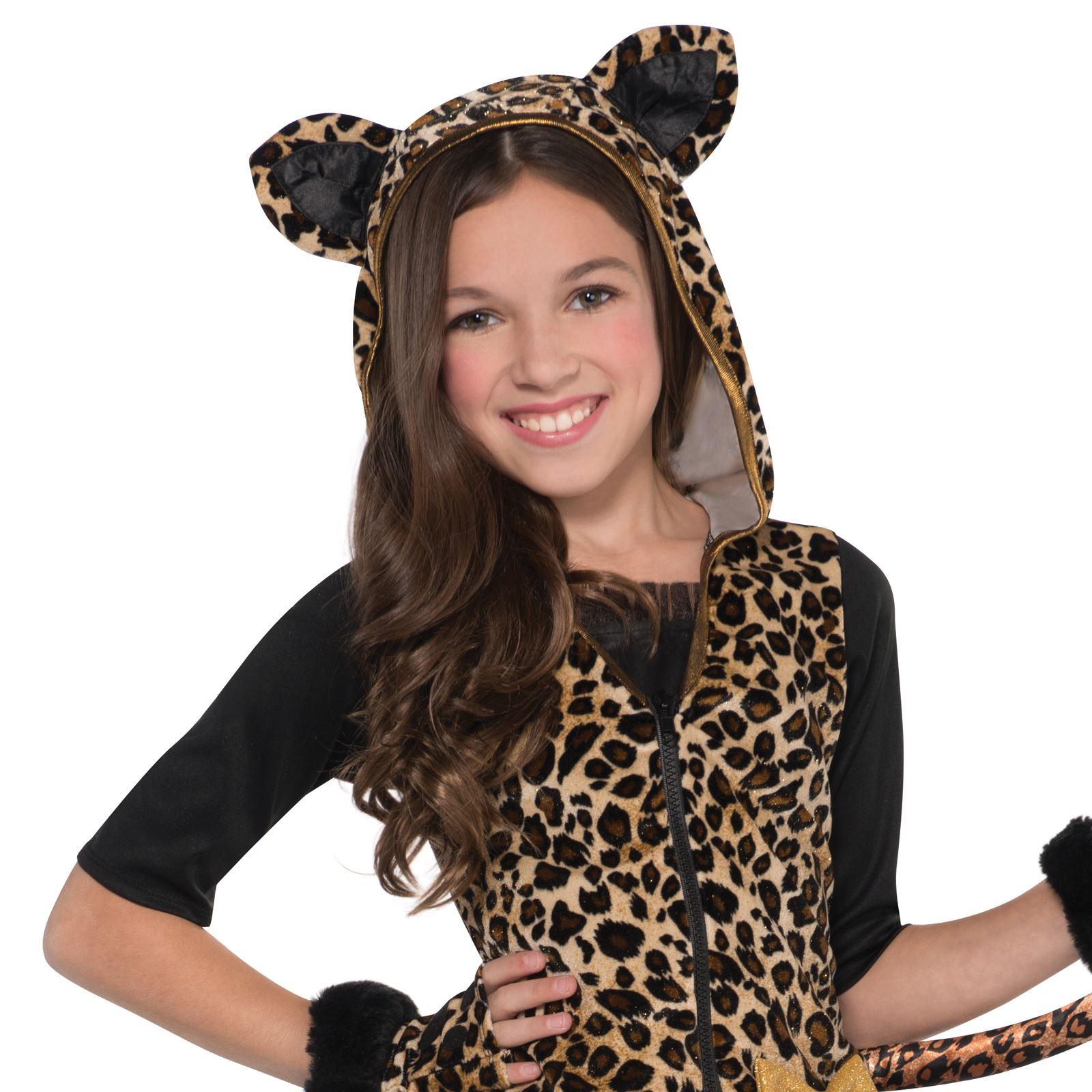 ecfd0eeda0f3 Kids Sassy Spots Leopard Jungle Big Cat Wild Fancy Dress Girls ...