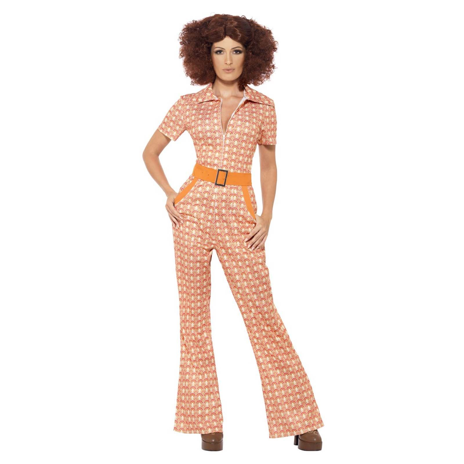 Canzonette Pantaloni Arancione Da Donna 70er 80er ANNI FESTA