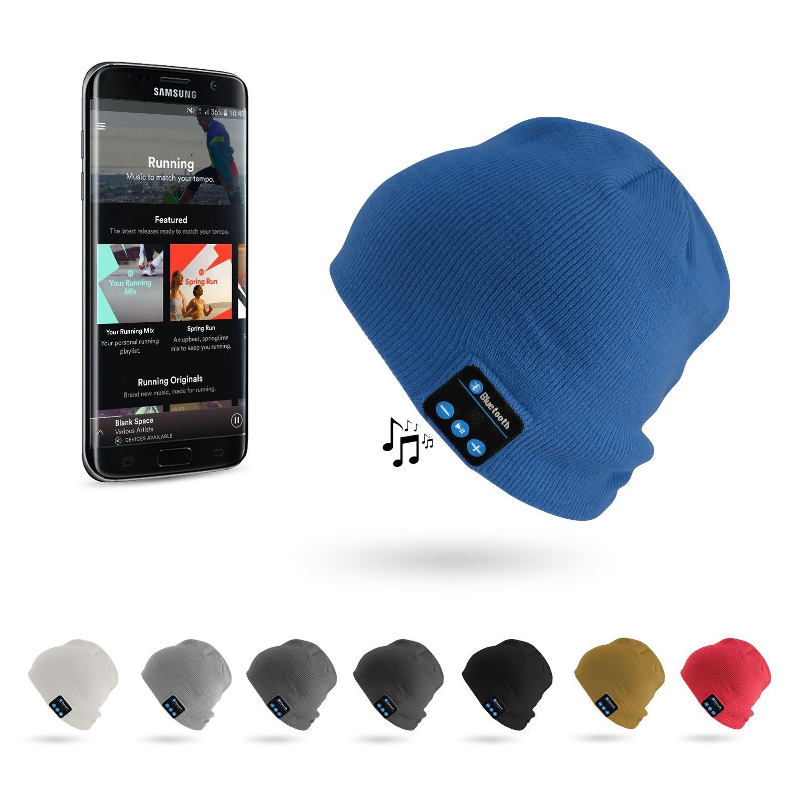 7711565e5df Details about Warm Beanie Wireless Bluetooth Hat Music Head Cap Headset  Headphone Speaker UK