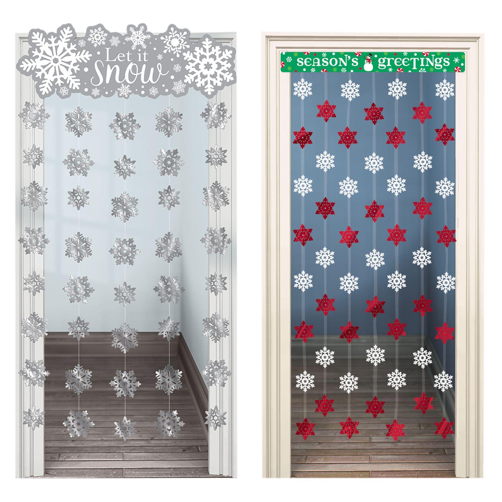 Snowflake Christmas Festive Door Curtain Hanging Wonderland Party Decoration Ebay