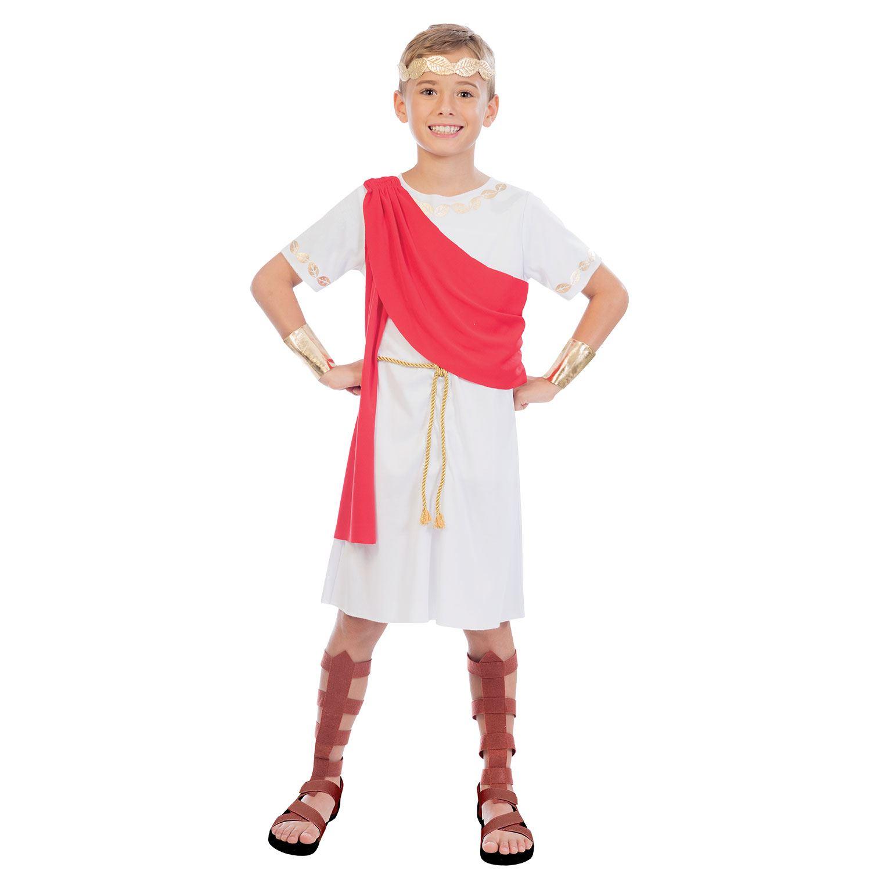 Boys Ancient Greek Boy Costume Fancy Dress Up Halloween Party Toga Historical