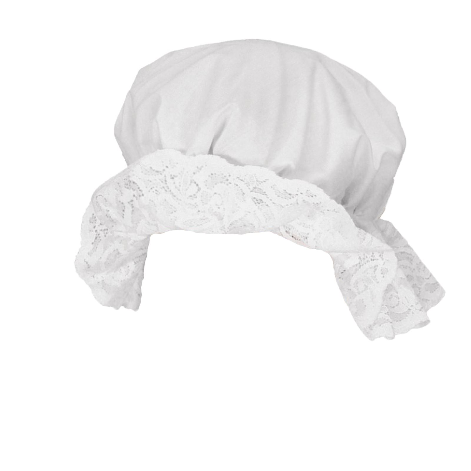 Adults Victorian Maid Servant White Frill Mop Cap Fancy Dress Hat Accessory