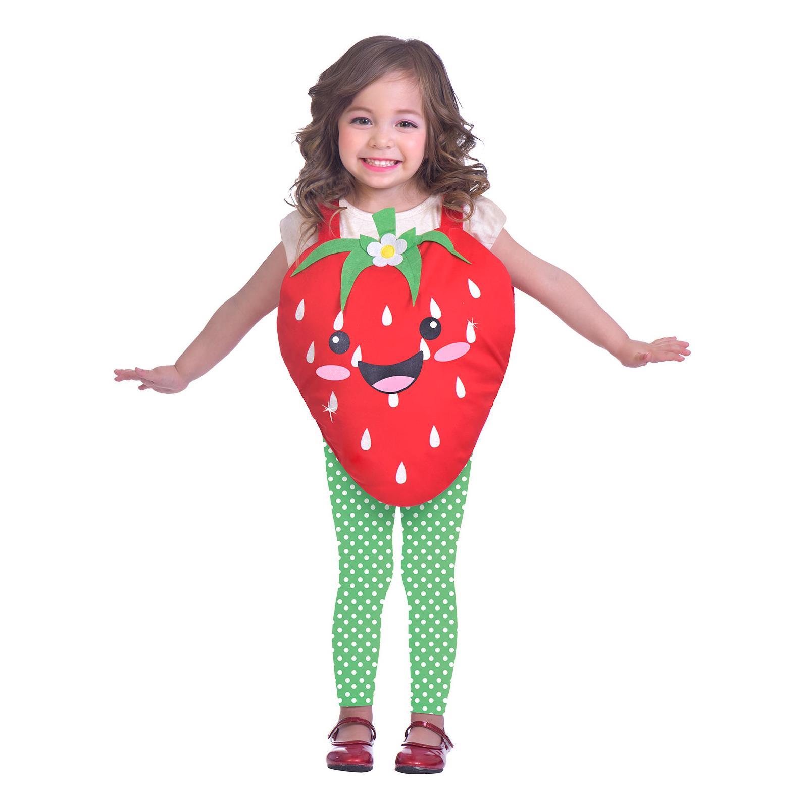 3-5 Years Kids Fruit Tabard  Leggings Carnival Food Strawberry Pineapple Costume