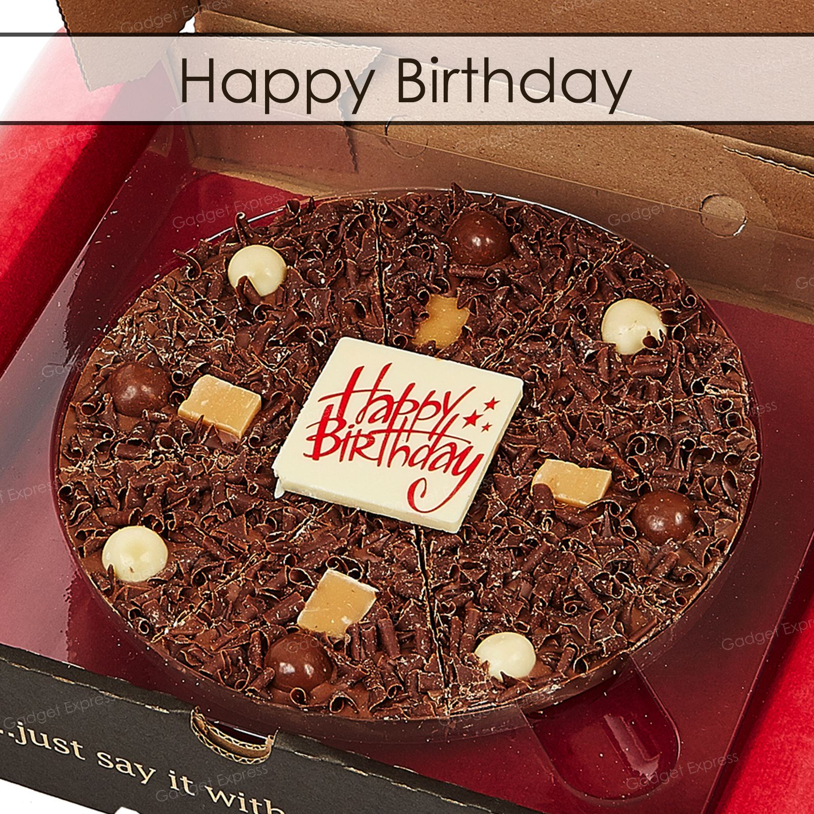 7 Inch Belgian Chocolate Pizza Party Celebration Birthday Gift ...