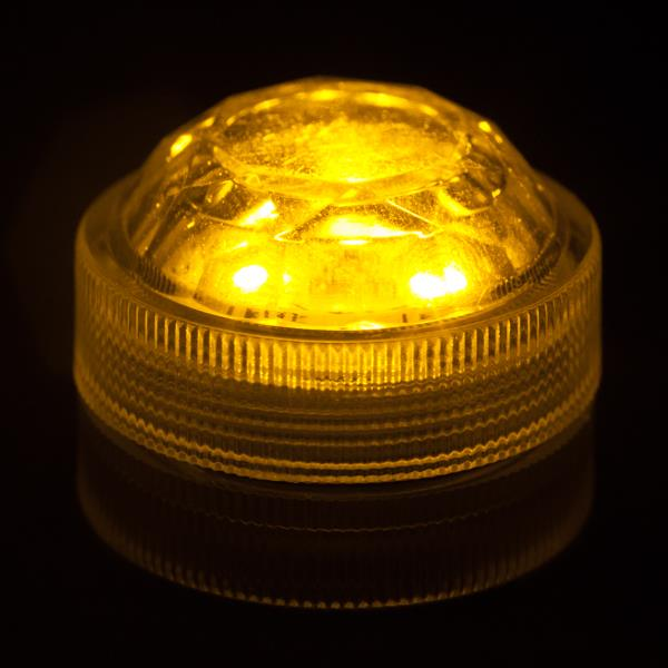 10-x-Triple-Submersible-LEDs-Very-Bright-Flamefree-Pumpkin-Christmas-Events thumbnail 3