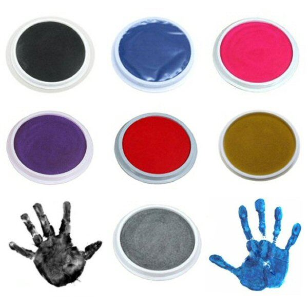 BLACK Giant Paint /& Inking Pad Ideal for Childrens Hand /& Foot Prints with Animal Shaped Painting Sponge