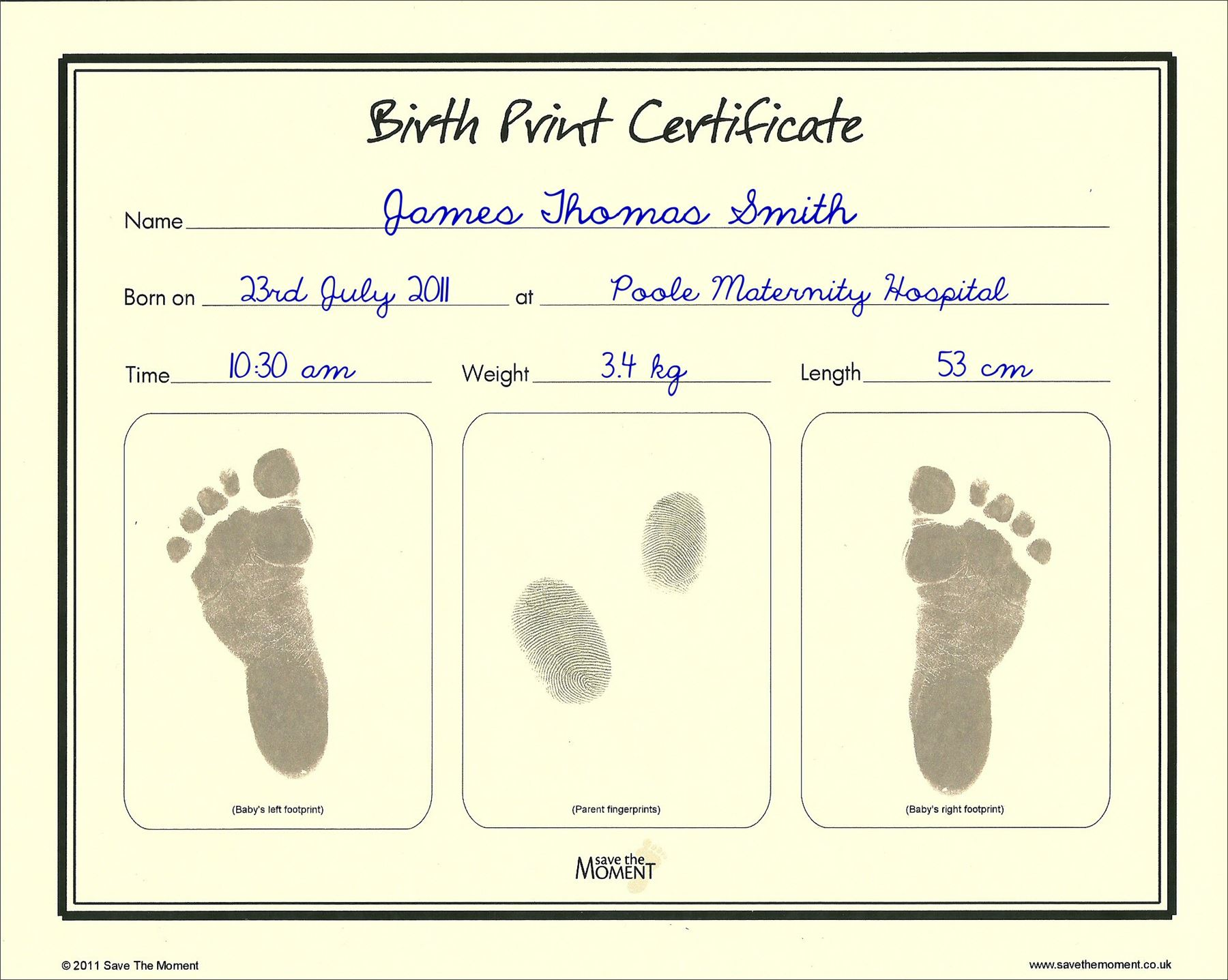 Save-The-Moment-Inkless-Footprint-Birth-Certificate-Baby-Foot-Print-Keepsake