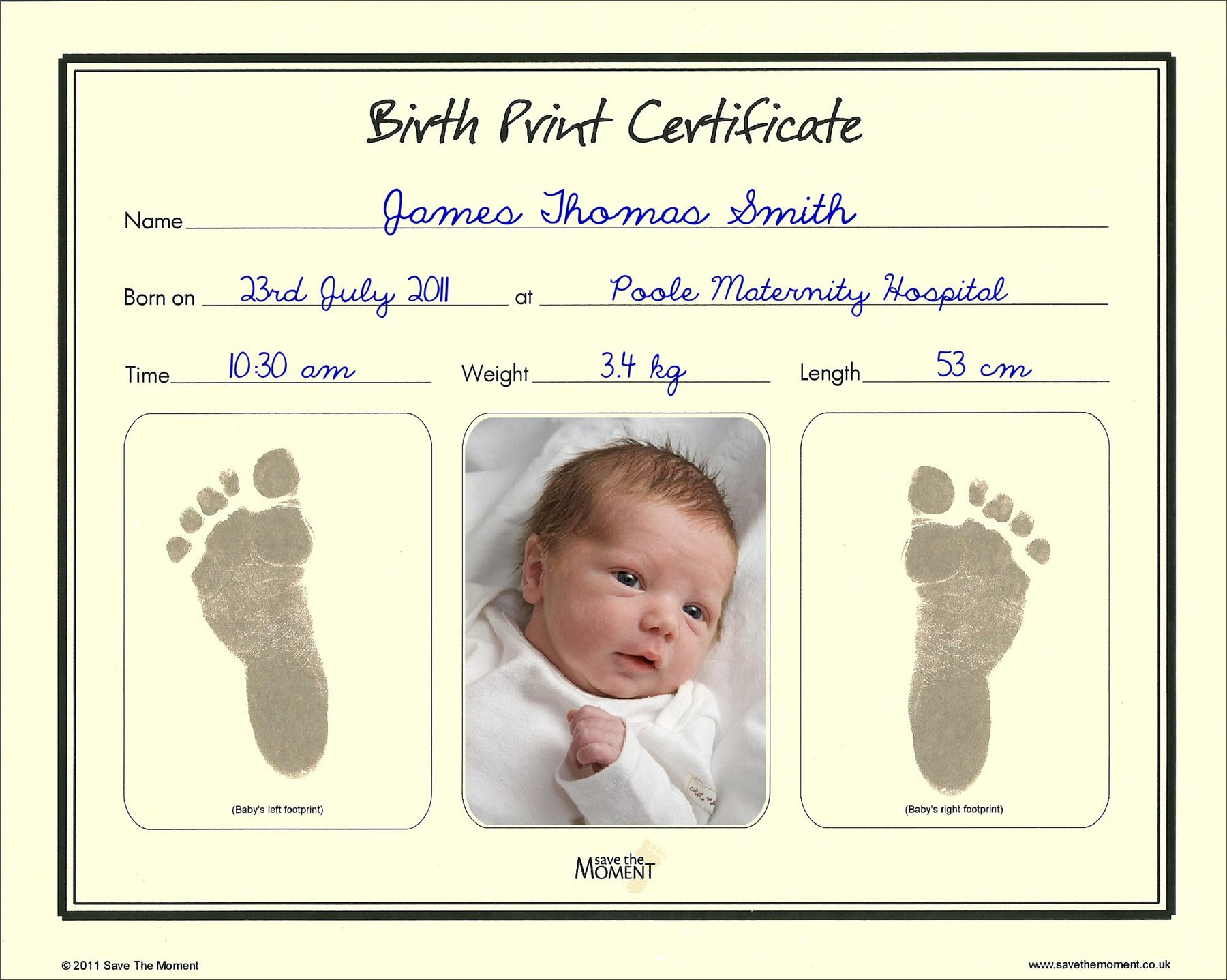 Save-The-Moment-Inkless-Footprint-Birth-Certificate-Baby-Foot-Print-Keepsake thumbnail 4