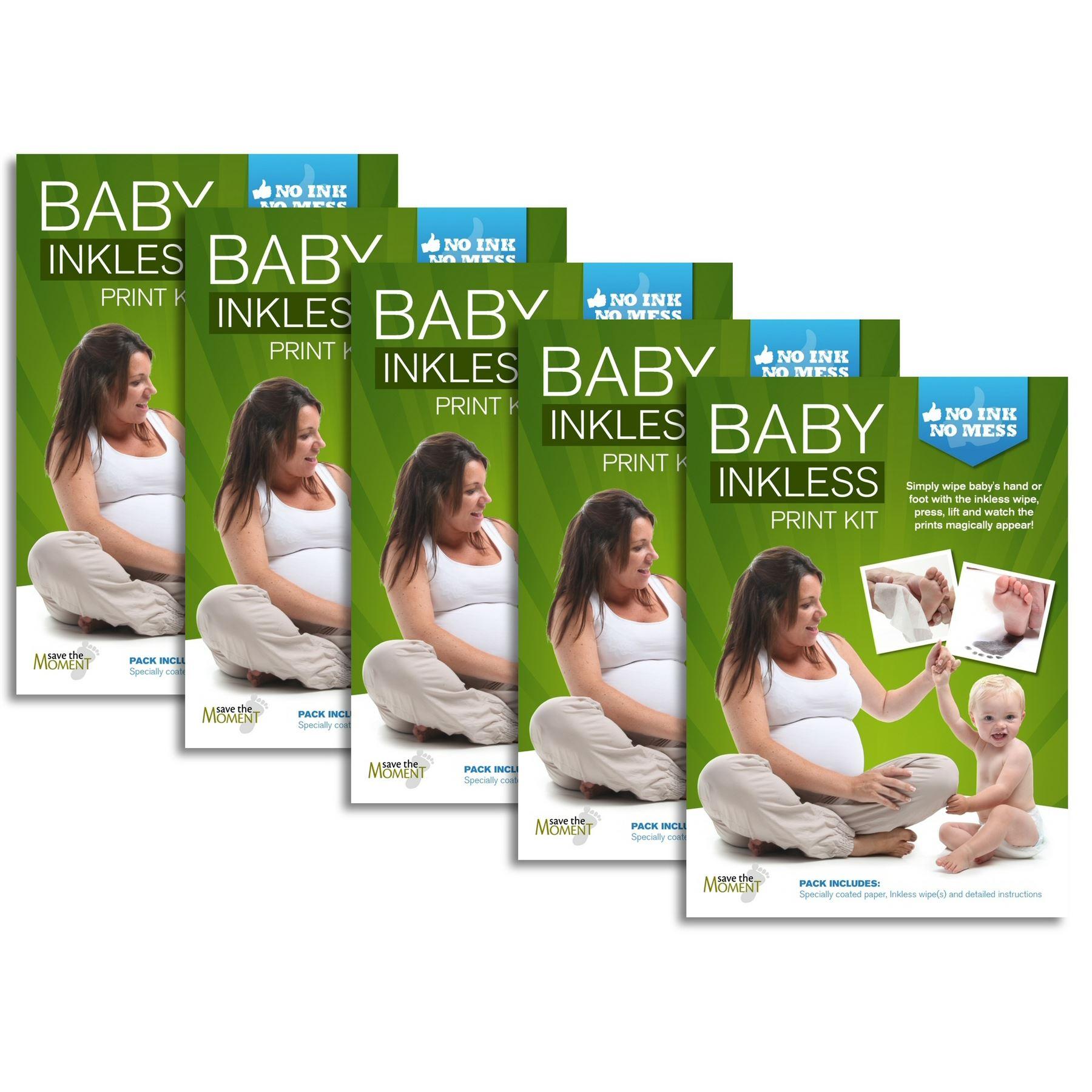 Kit de Huellas de Beb/é Ideal para montar un marco de fotos para huellas del beb/é para regalar o guardar como recuerdo Limpio y Seguro Incluye 1 toallitas especial y 4 hojas de papel sin tinta
