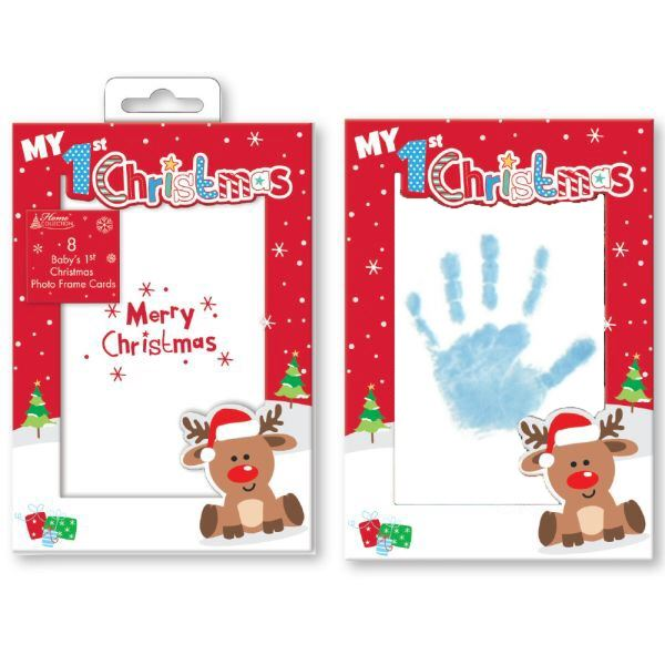 BABY BOY OR GIRL NEW INKLESS WIPE HAND AND FOOT KEEPSAKE FOR CHRISTMAS X MAS