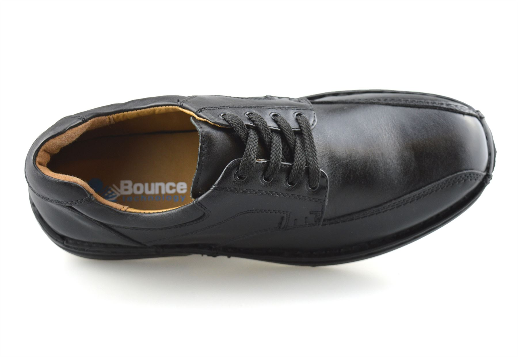Mens-Hush-Puppies-Leather-Wide-Fit-Smart-Casual-Lace-Up-Work-Office-Shoes-Size thumbnail 12
