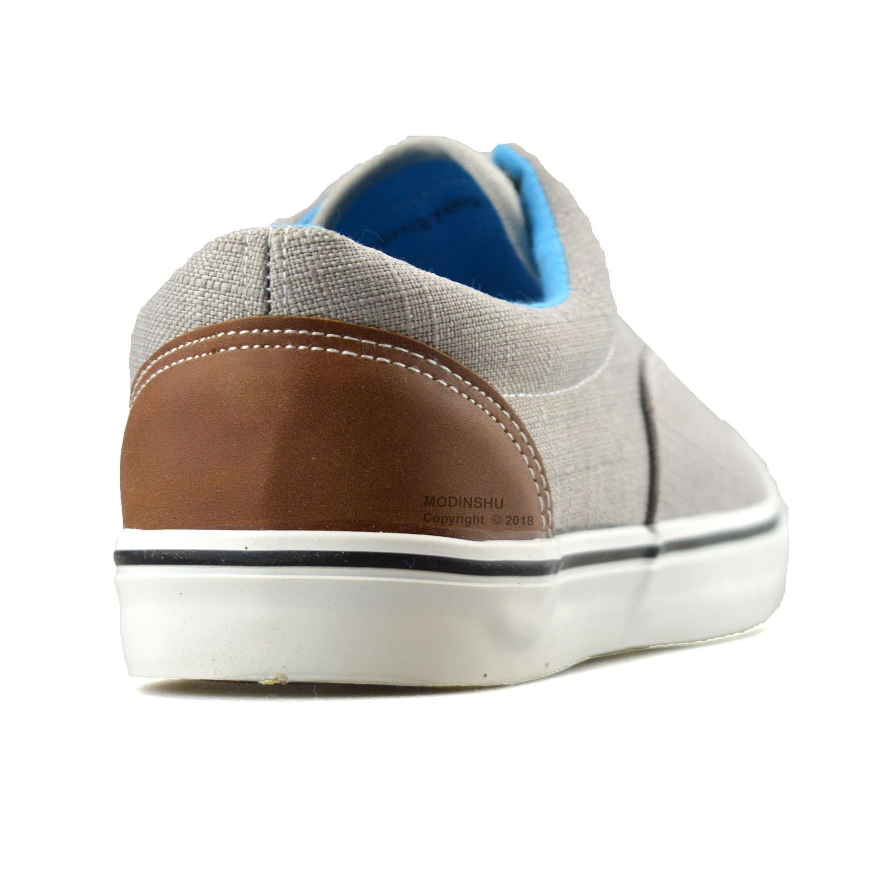 Mens-Casual-Flat-Lace-Up-Canvas-Skate-Pumps-Walking-Plimsolls-Trainers-Shoe-Size thumbnail 19