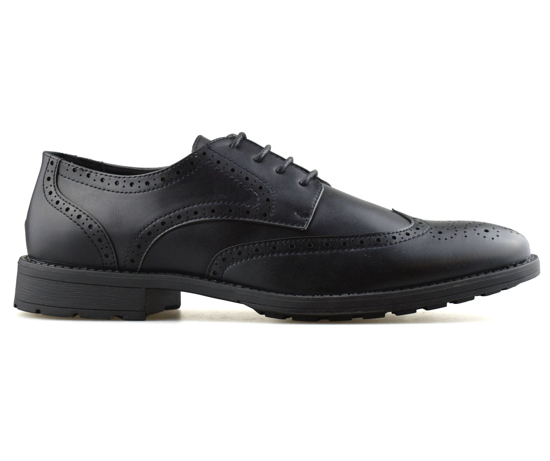 Mens-Smart-Casual-Lace-Up-Formal-Oxford-Brogues-Walking-Work-Office-Shoes-Size thumbnail 9