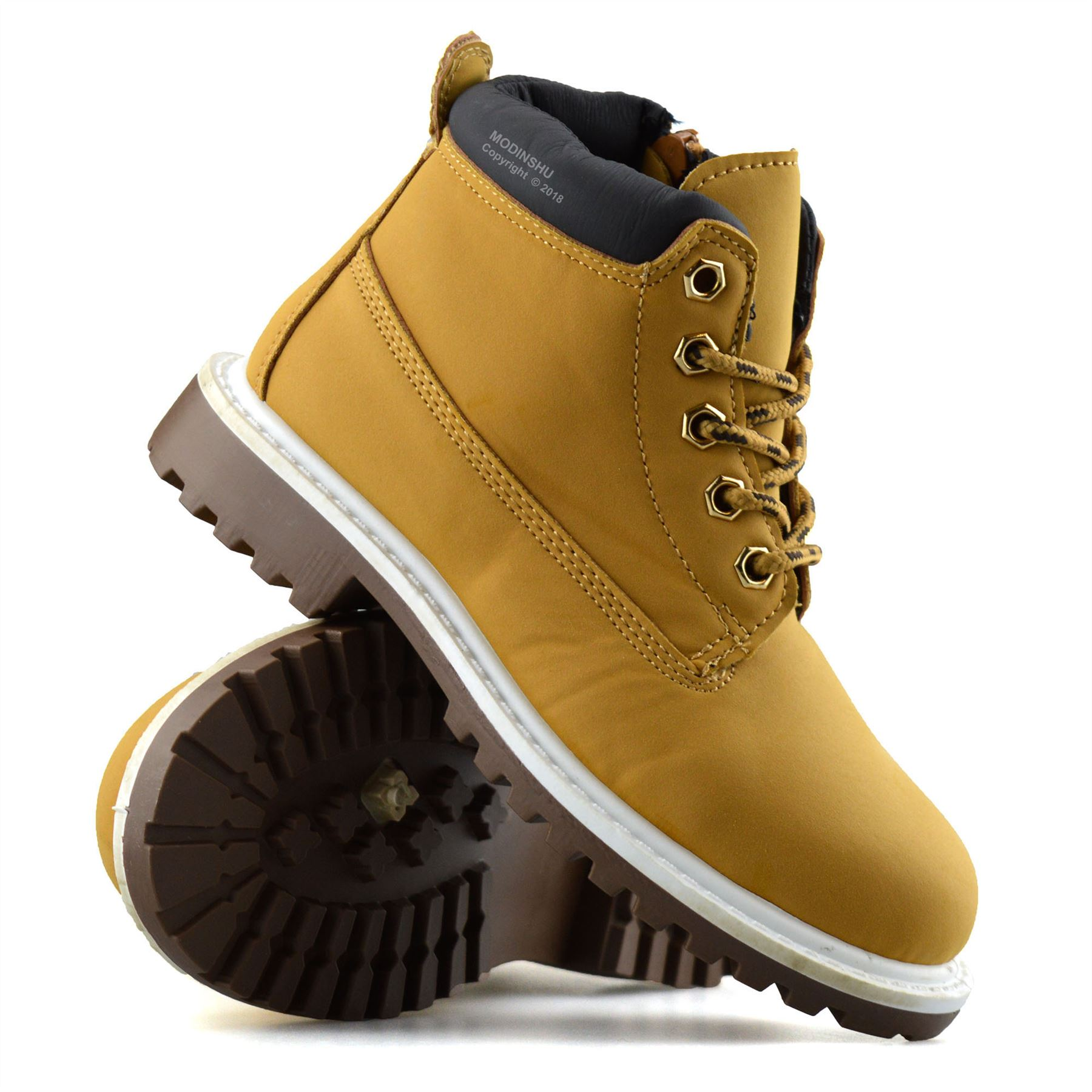 Boys-Kids-New-Casual-Zip-Lace-Up-Winter-Walking-Ankle-Boots-Trainers-Shoes-Size thumbnail 22