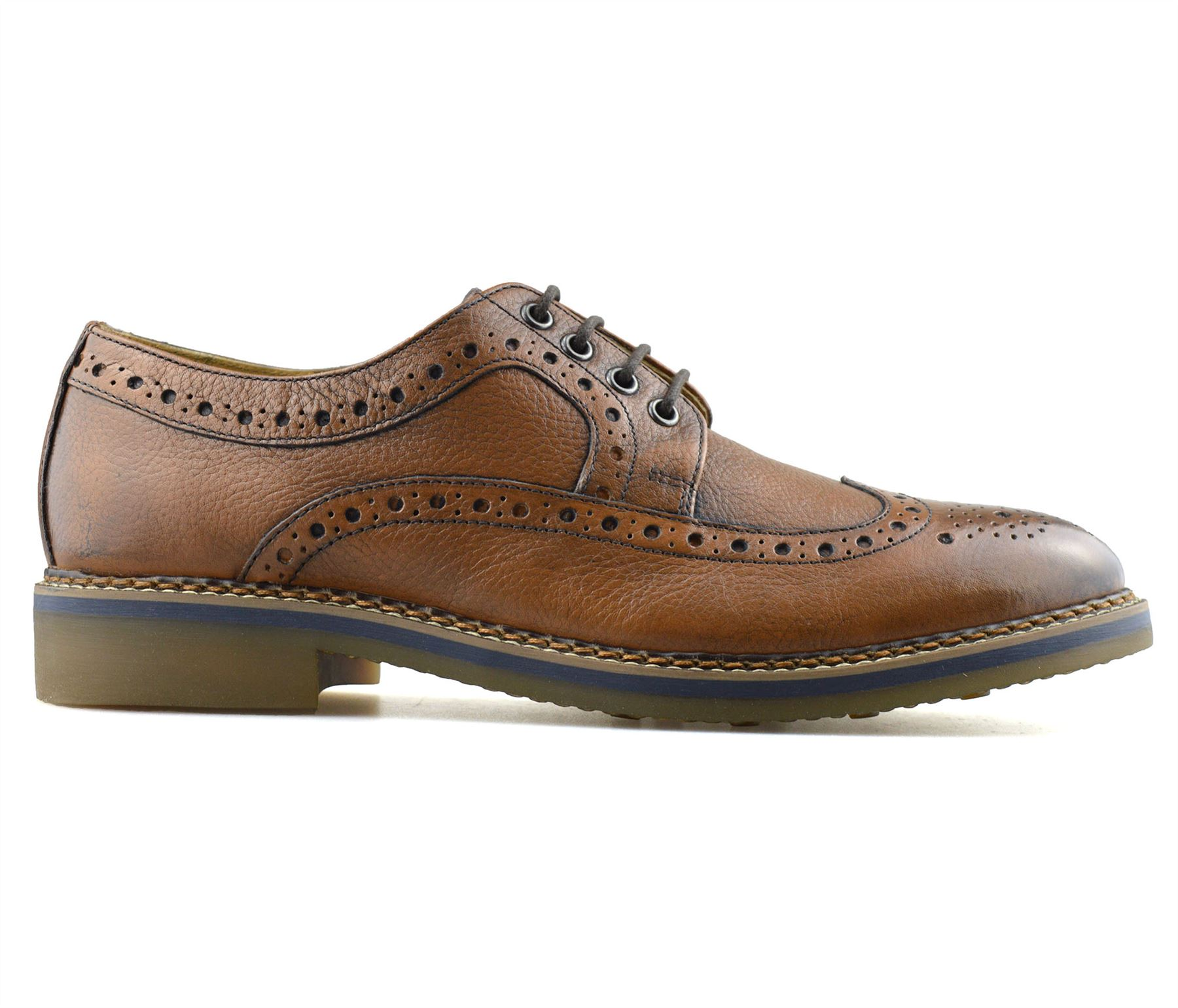 Mens-New-Ikon-Leather-Casual-Smart-Lace-Up-Oxford-Brogues-Work-Office-Shoes-Size thumbnail 14