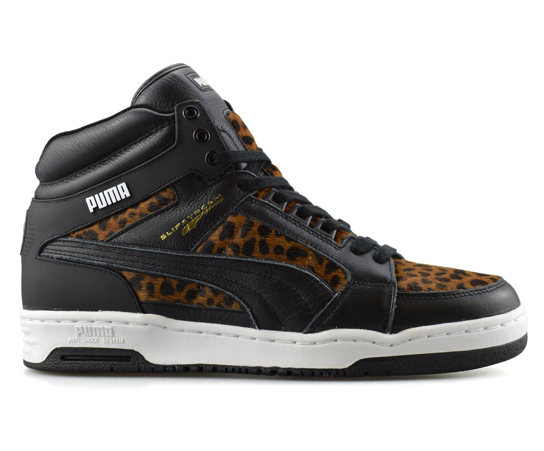 Details about Mens Puma Slipstream Leather Hi Tops Basketball Trainers Ankle Boots Shoes Size