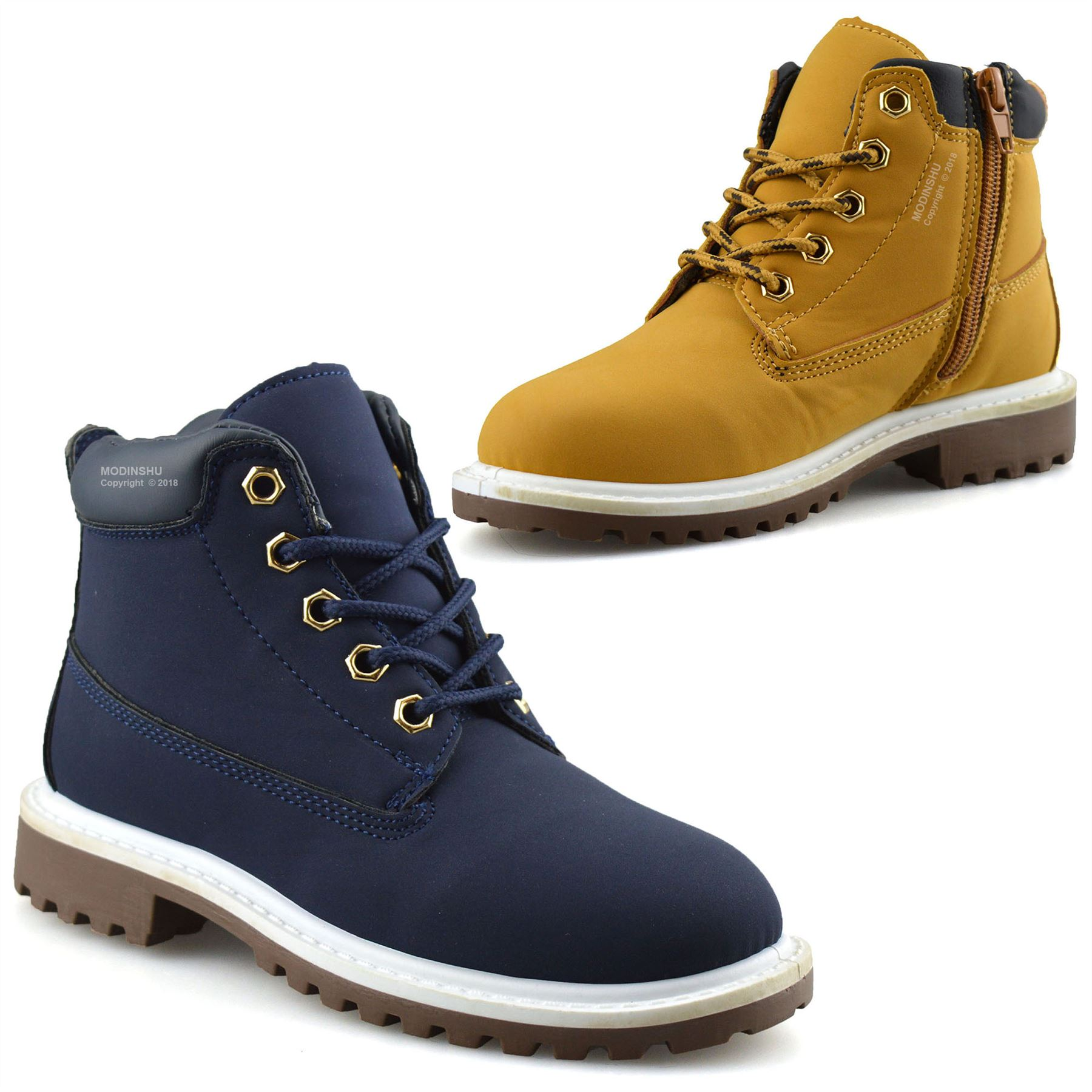 Details about Boys Kids New Casual Zip Lace Up Winter Walking Ankle Boots  Trainers Shoes Size
