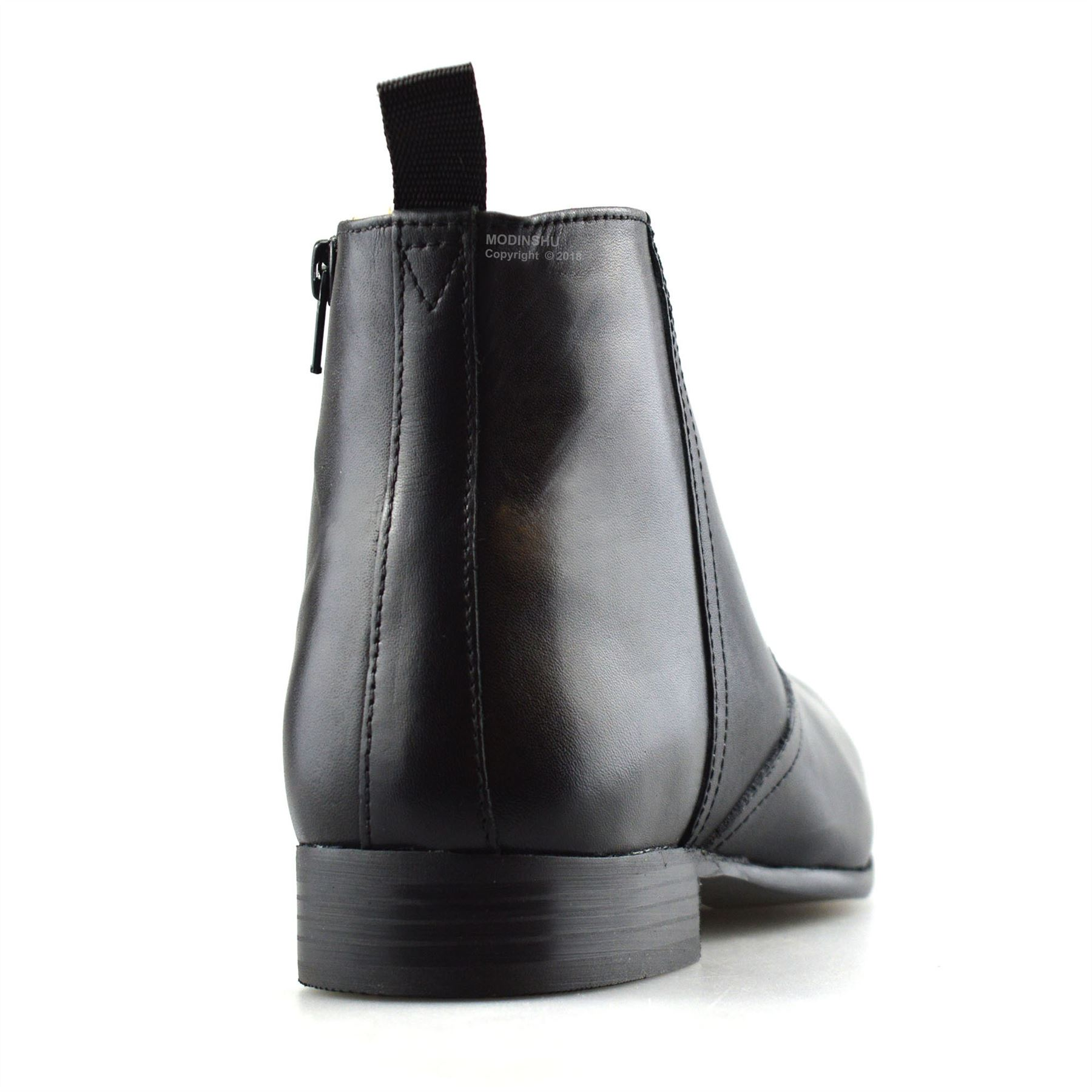 Mens-New-Leather-Zip-Up-Smart-Formal-Chelsea-Dealer-Work-Ankle-Boots-Shoes-Size thumbnail 12