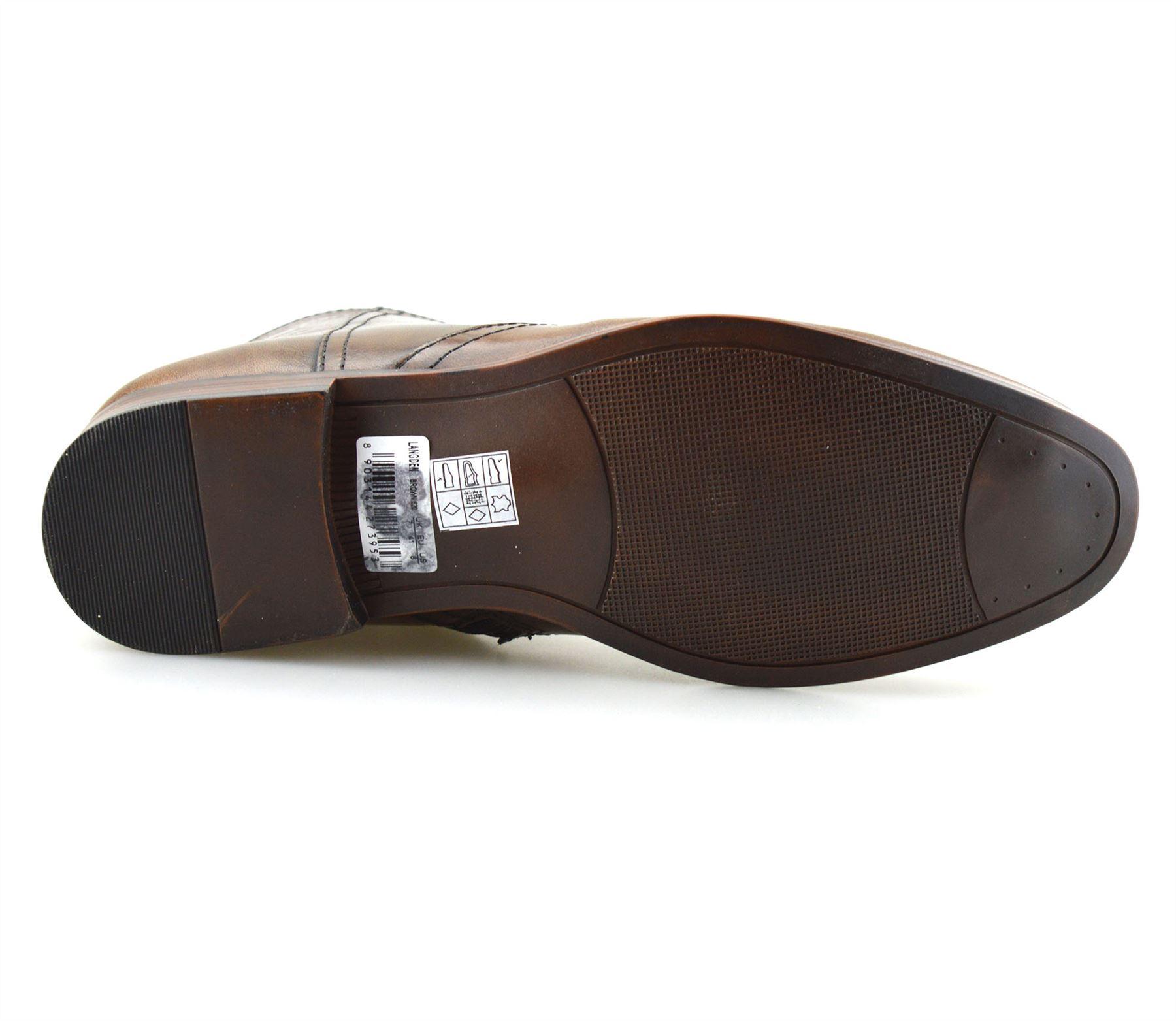 Hombre-Nuevo-Cuero-Cremallera-Formal-Smart-Trabajo-Distribuidor-Chelsea-Botas-al-Tobillo-Zapatos miniatura 28