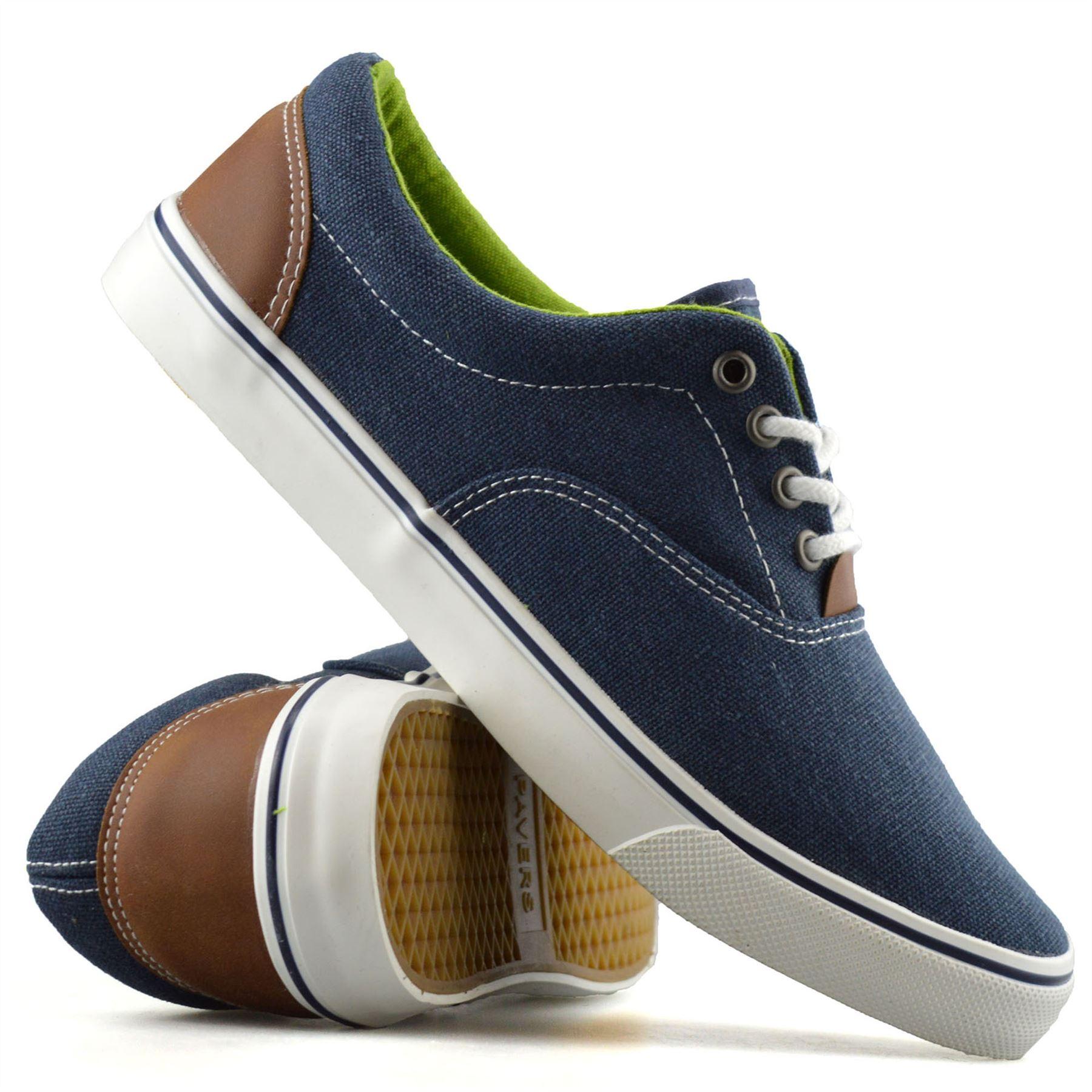 Mens-Casual-Flat-Lace-Up-Canvas-Skate-Pumps-Walking-Plimsolls-Trainers-Shoe-Size thumbnail 16