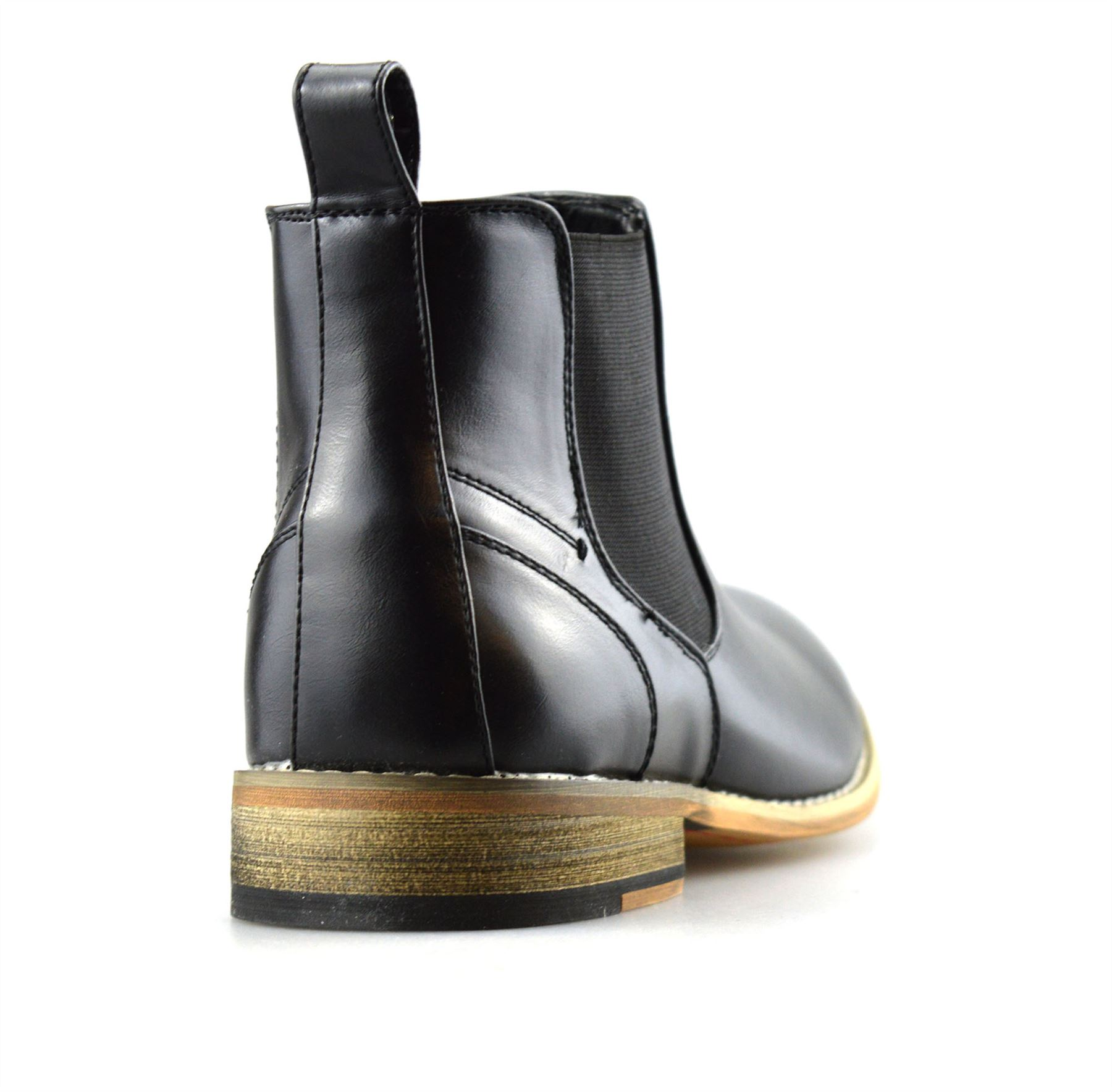 Mens-Memory-Foam-Chelsea-Ankle-Boots-Casual-Smart-Formal-Dealer-Work-Shoes-Size thumbnail 12