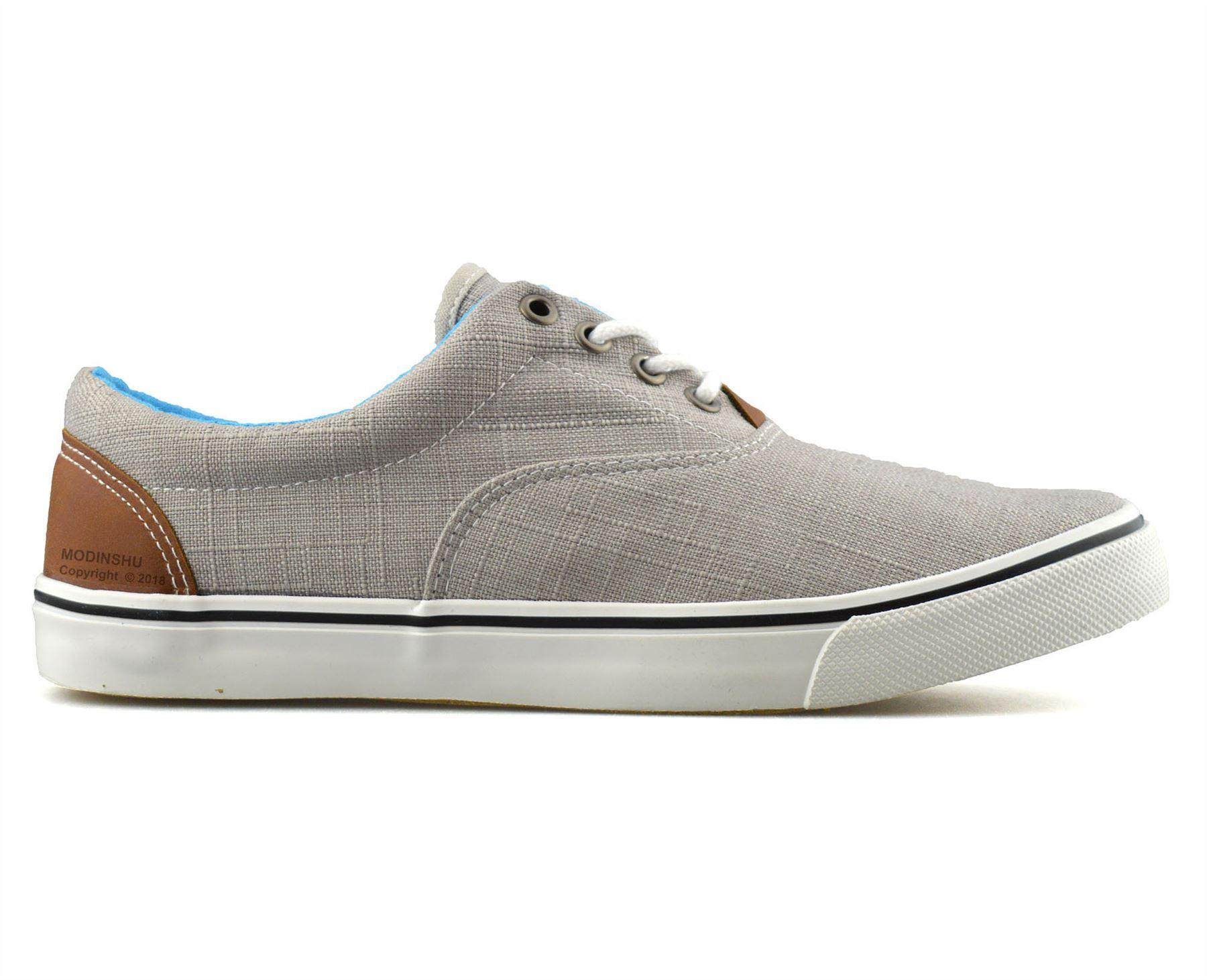 Mens-Casual-Flat-Lace-Up-Canvas-Skate-Pumps-Walking-Plimsolls-Trainers-Shoe-Size thumbnail 18